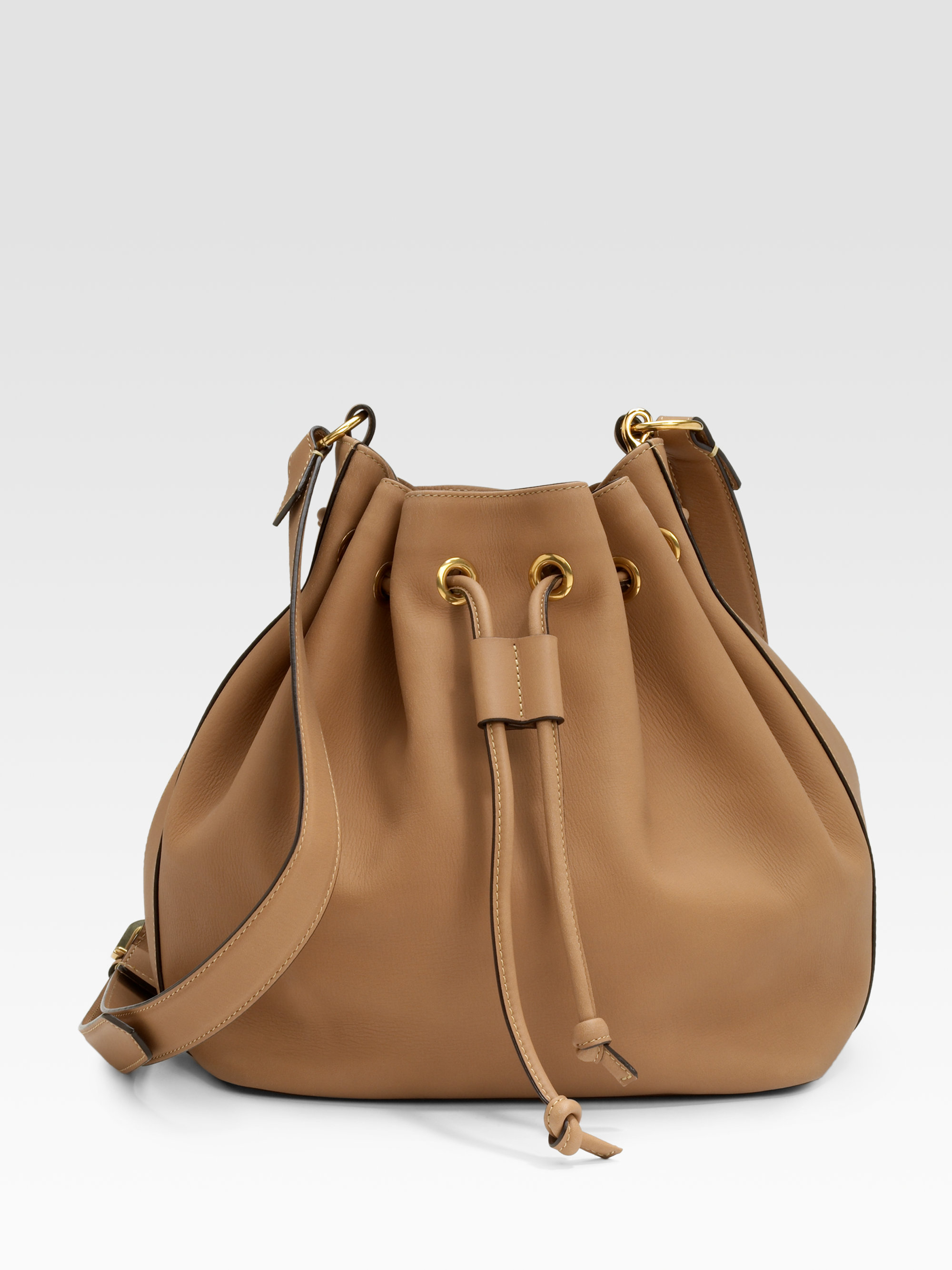 Chlo�� Aurore Bucket Bag in Brown (black) | Lyst