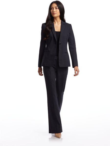 Elie Tahari Steffie Onebutton Suit Jacketnavy In Black