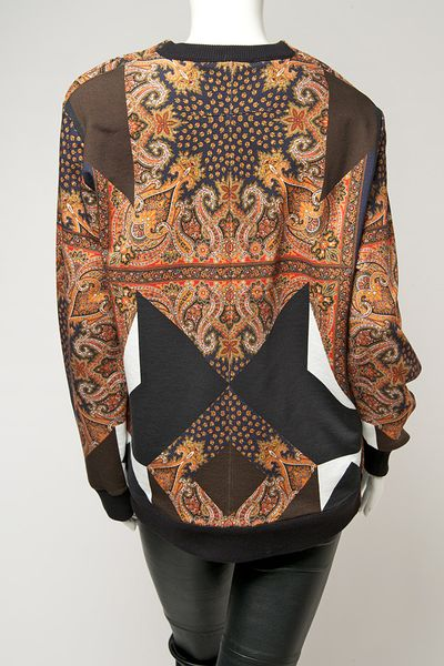 givenchy paisley print pullover in multicolor lyst. Black Bedroom Furniture Sets. Home Design Ideas