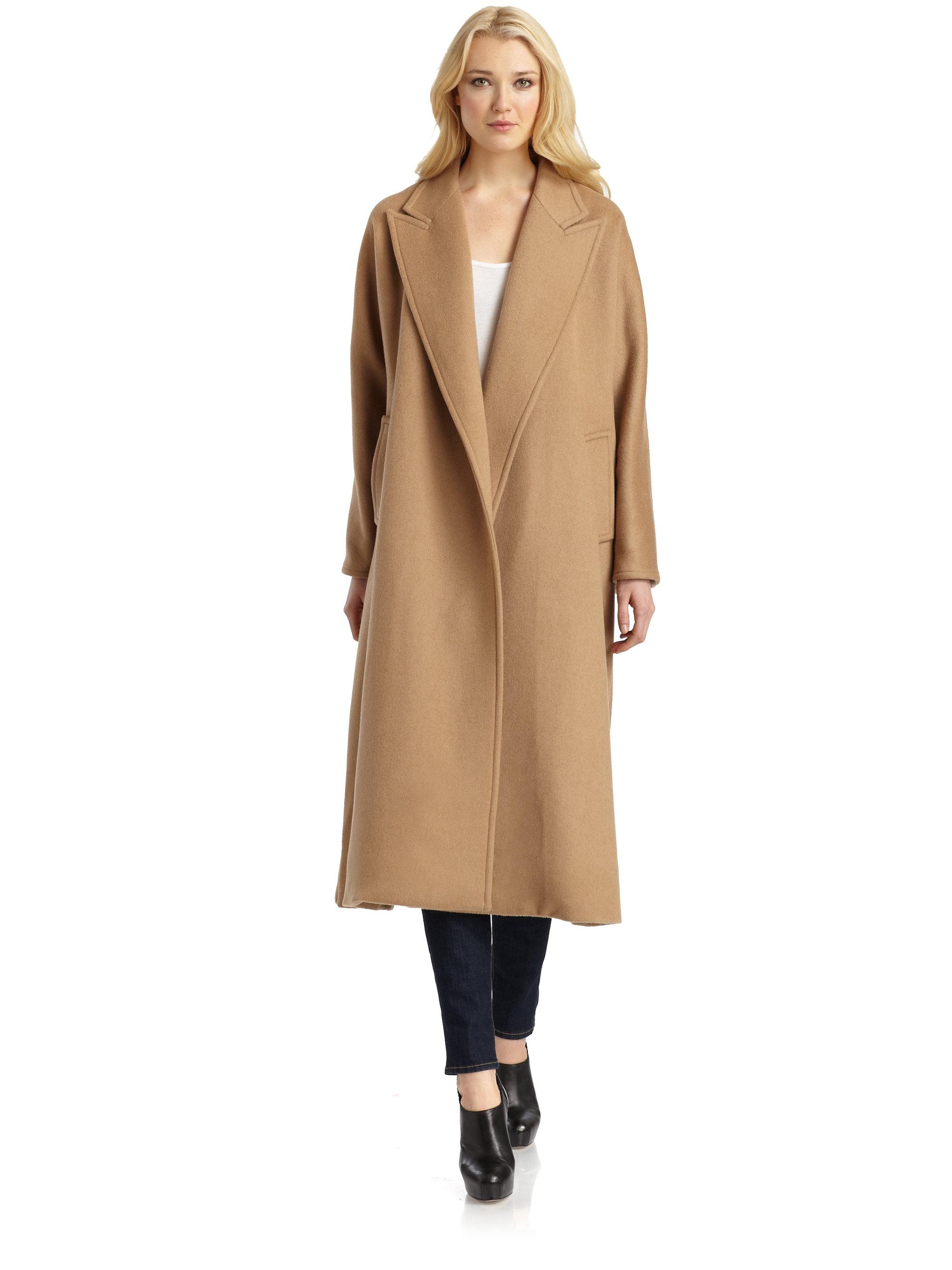 max mara prato camel hair coat in brown camel lyst
