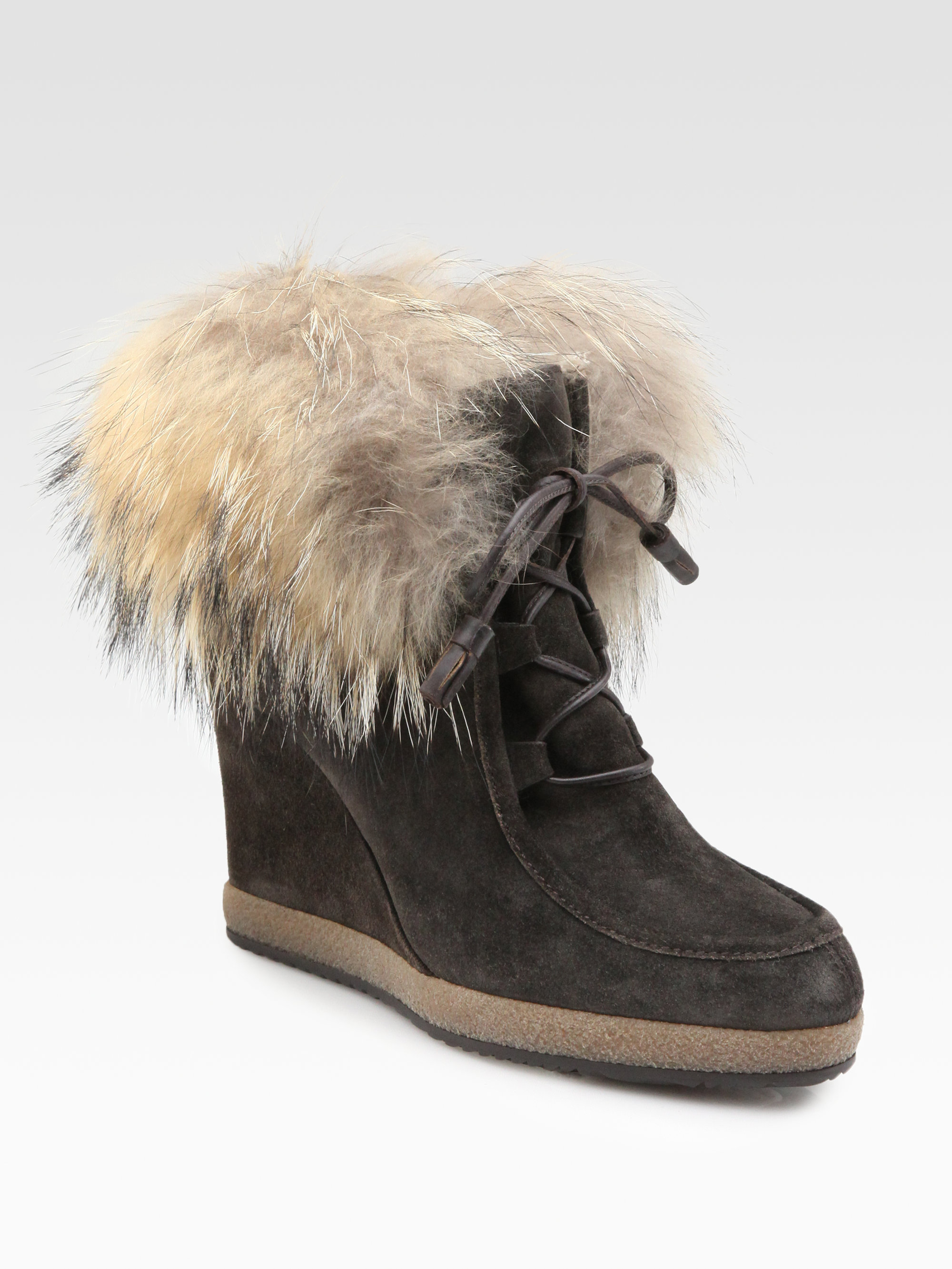 cheap sale exclusive Moncler Shearling-Lined Wedge Booties buy cheap looking for manchester great sale for sale jXn18gc