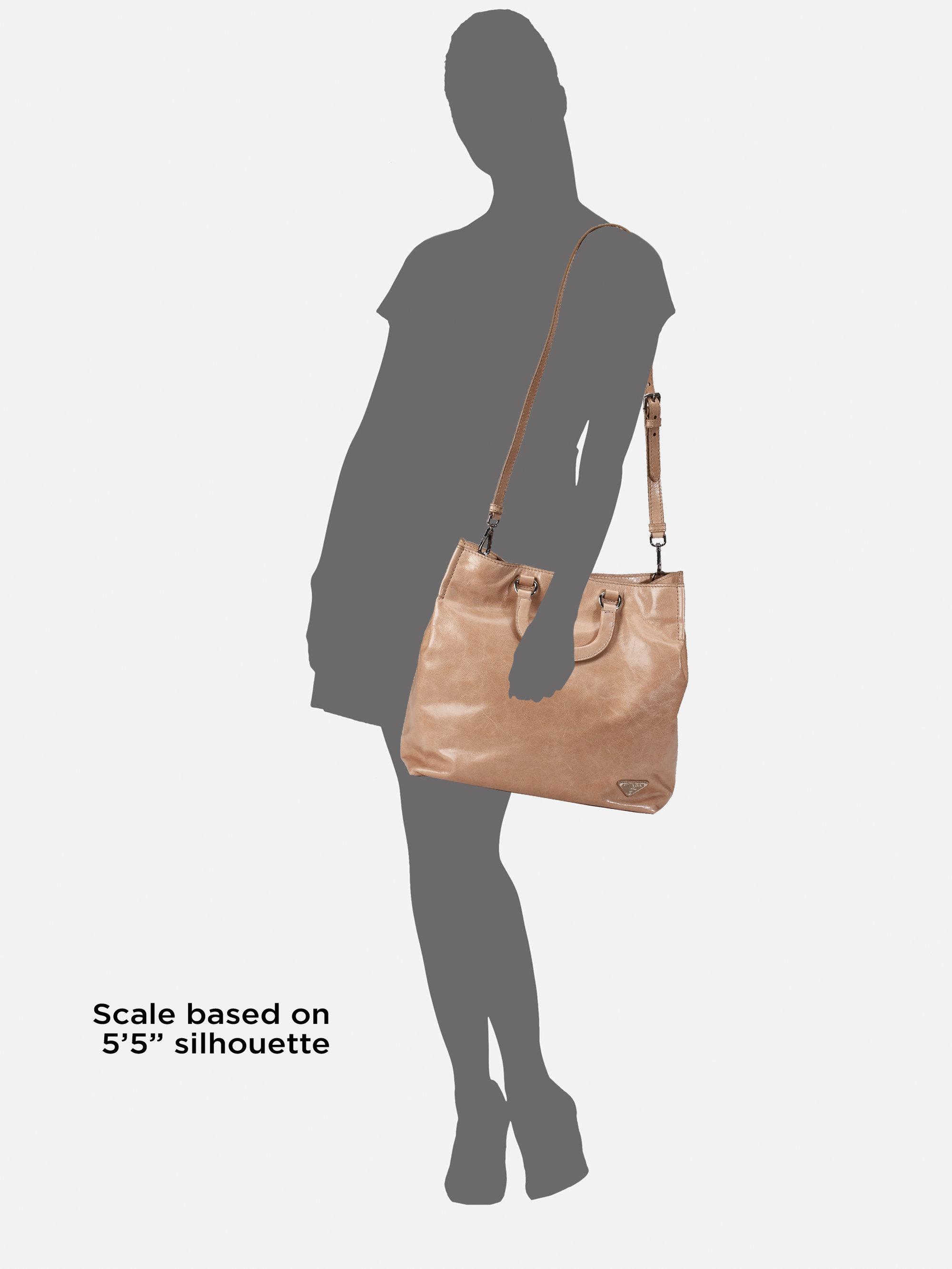 pradas bags - Prada Vitello Shine Tote in Beige (blush) | Lyst
