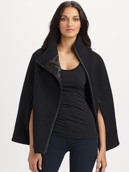 Smythe wool cape in black lyst for Smythe designer