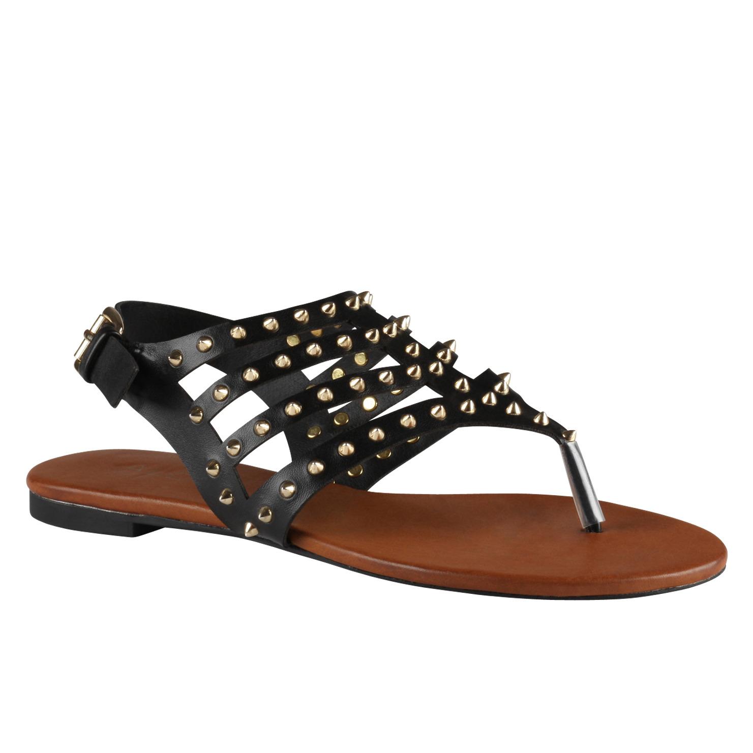 Aldo Barbara Flat Sandals In Black Lyst