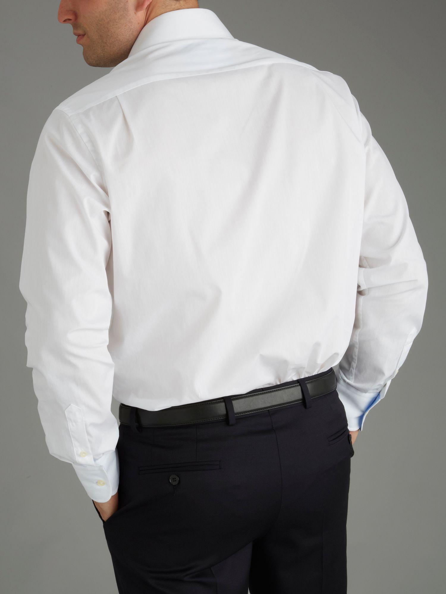 B 228 Umler White Poplin Shirt In White For Men Lyst