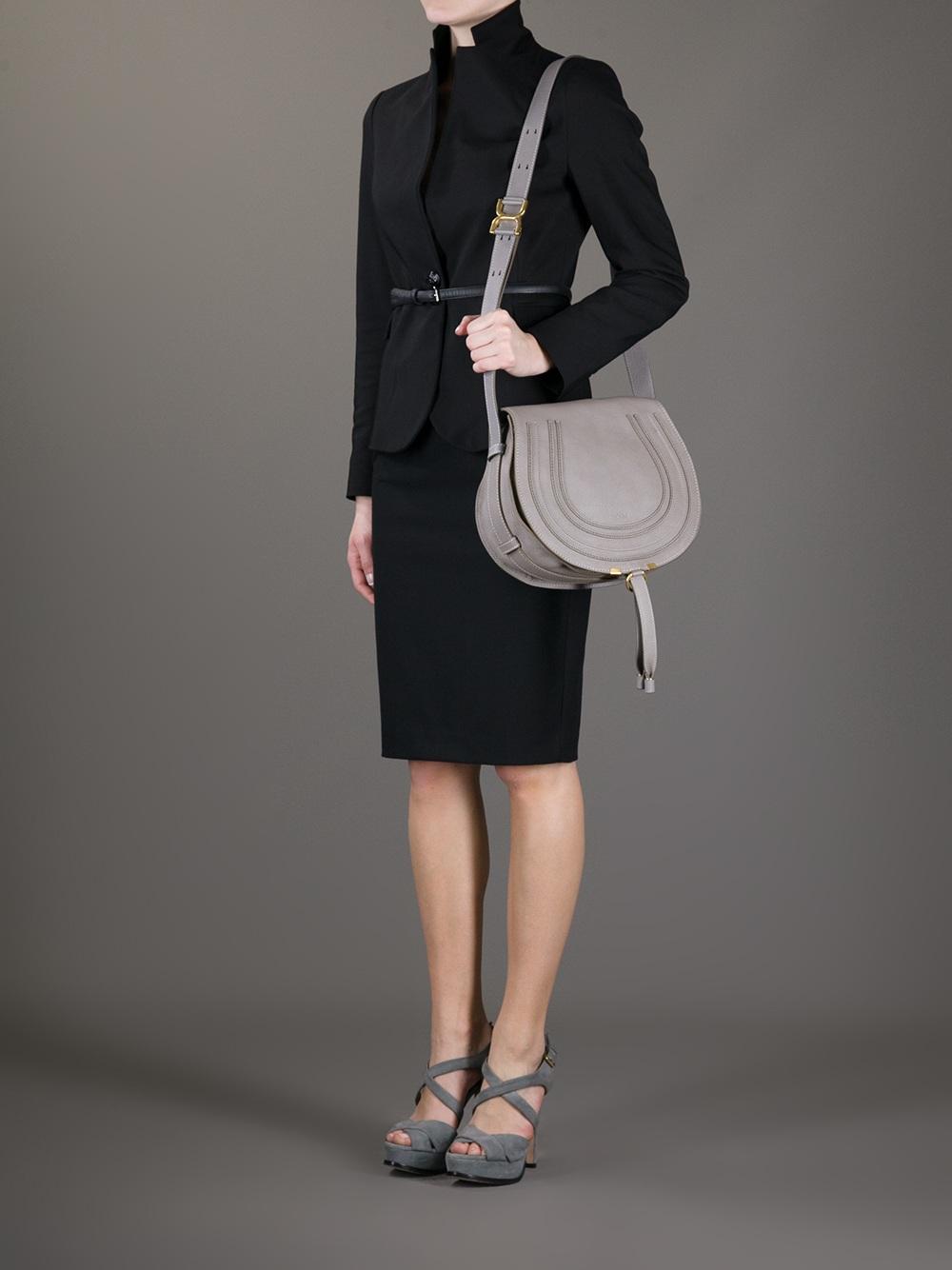 Lyst - Chloé Marcie Cross Body Bag in Gray e174ee01c4572