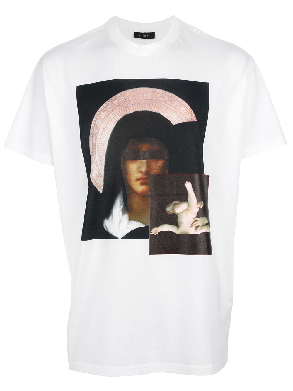 givenchy virgin mary print t shirt in white for men lyst