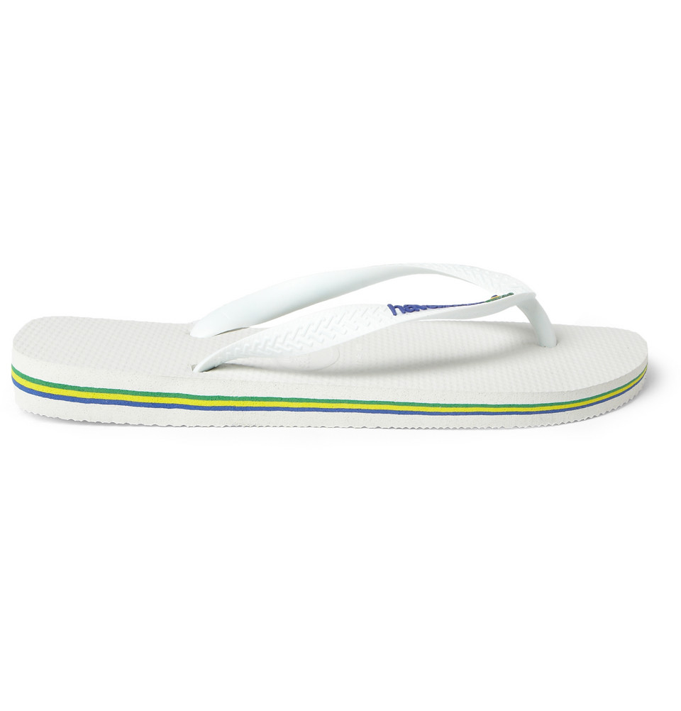 Lyst Havaianas Rubber Flip Flops In White For Men