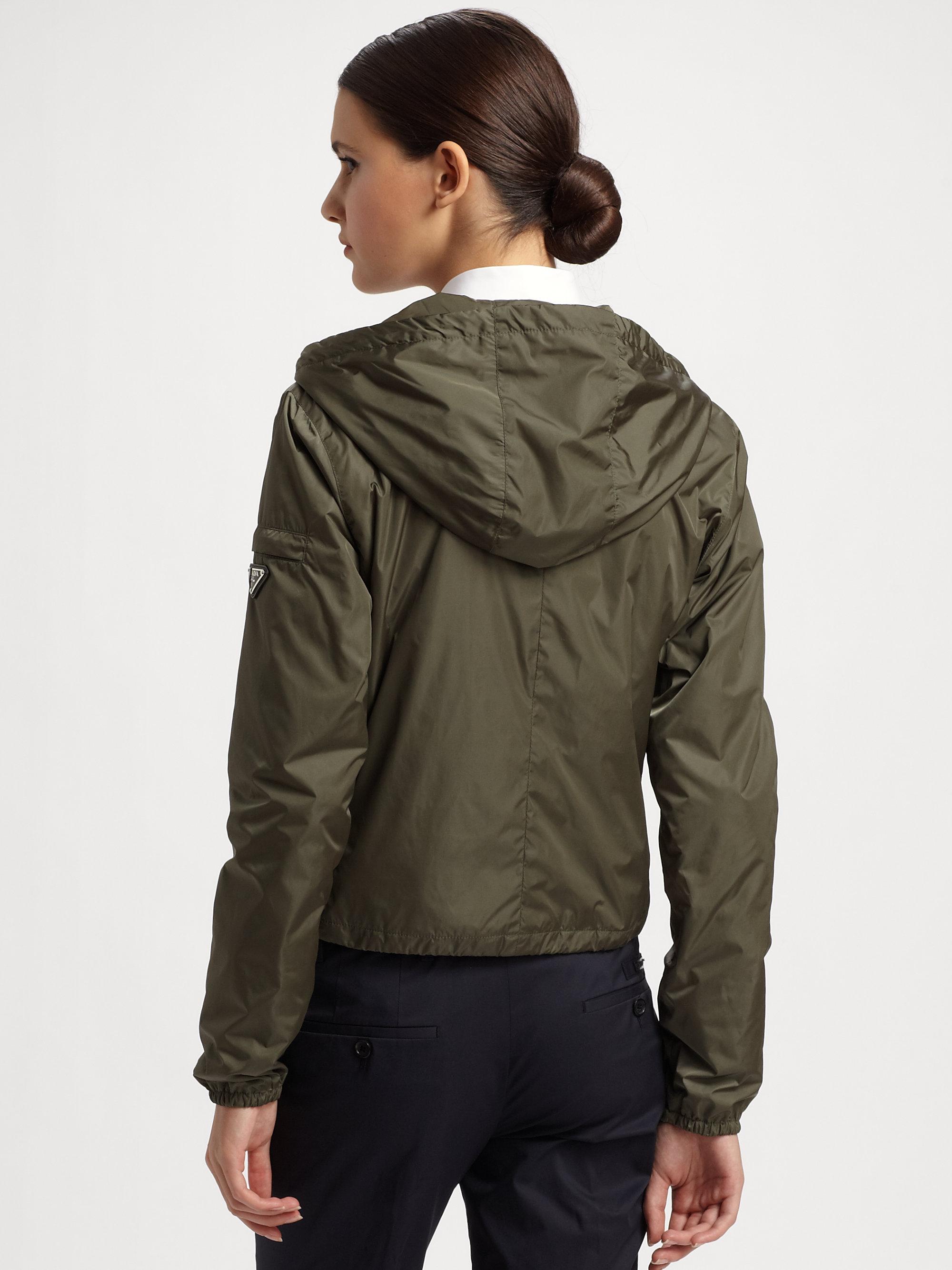 Prada zip up hooded jacket - Green 2018 New Low Price Cheap Price epWVqiZP