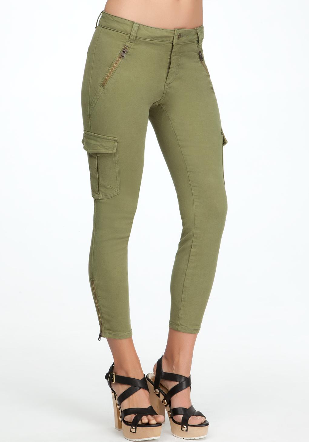 Wonderful Girls And Woman Uniform Skinny Khaki Cargo Pants  EBay
