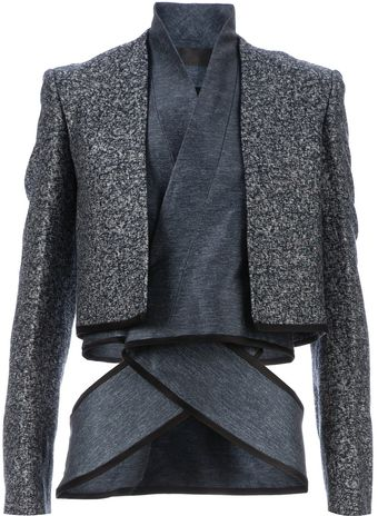 Haider Ackermann Wrap Around Layered Jacket - Lyst