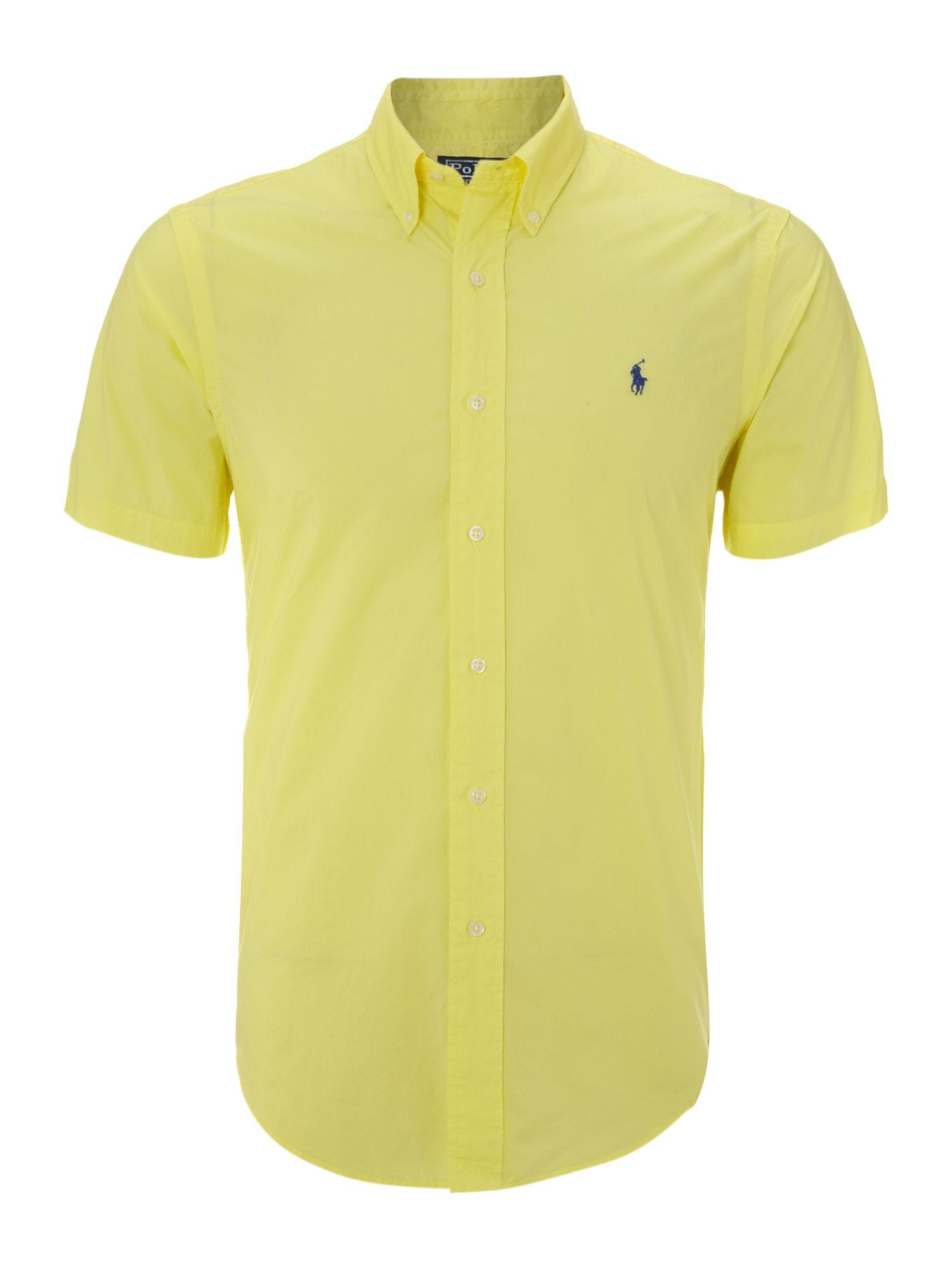 Polo Ralph Lauren Short Sleeved Classic Shirt In Yellow