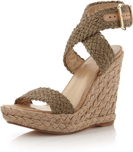 Image Stuart Weitzman Alex Crochet Wedge Sandal Download