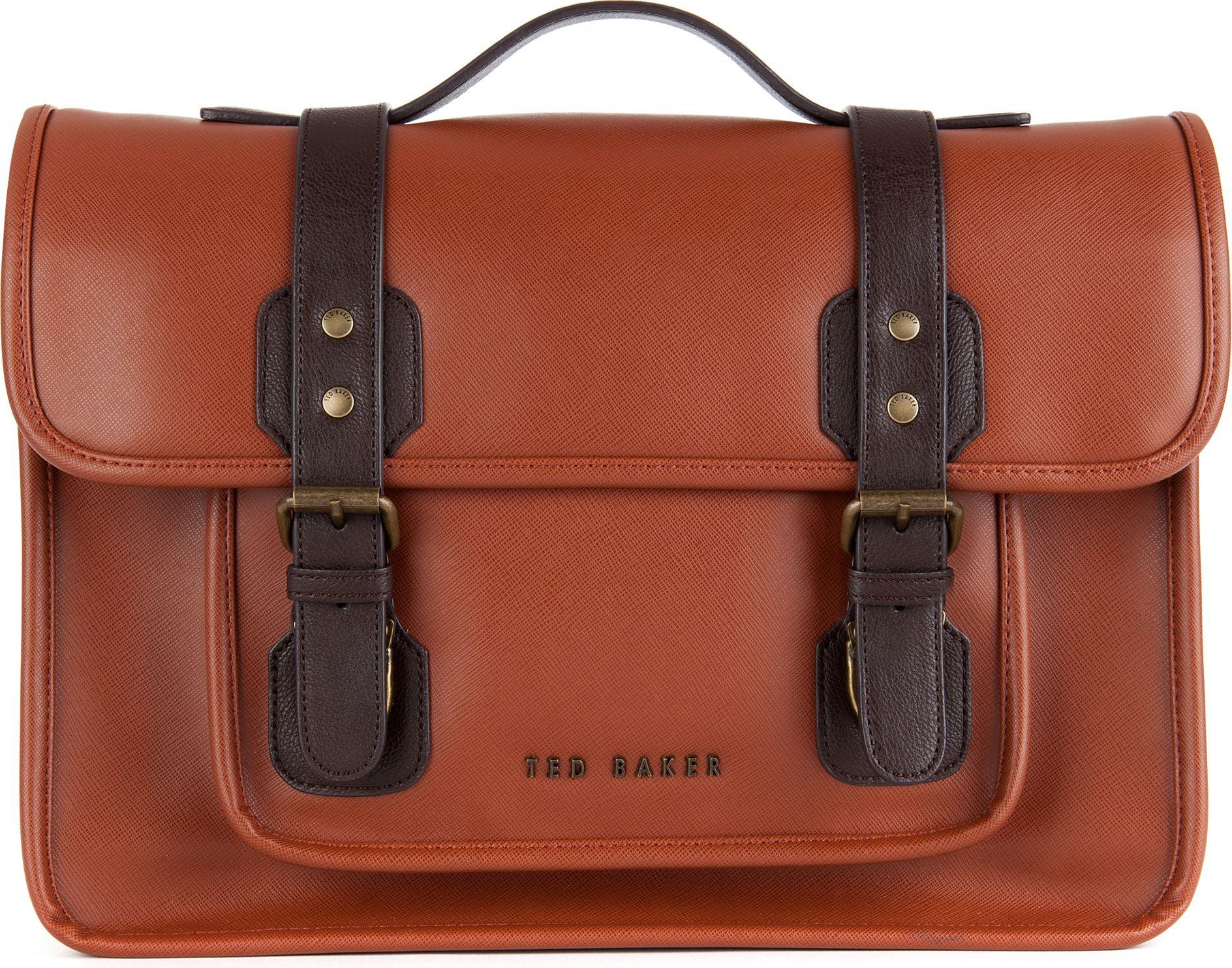 Ted Baker Skoling Satchel Bag in Brown for Men - Lyst 2f70ebddb5c77