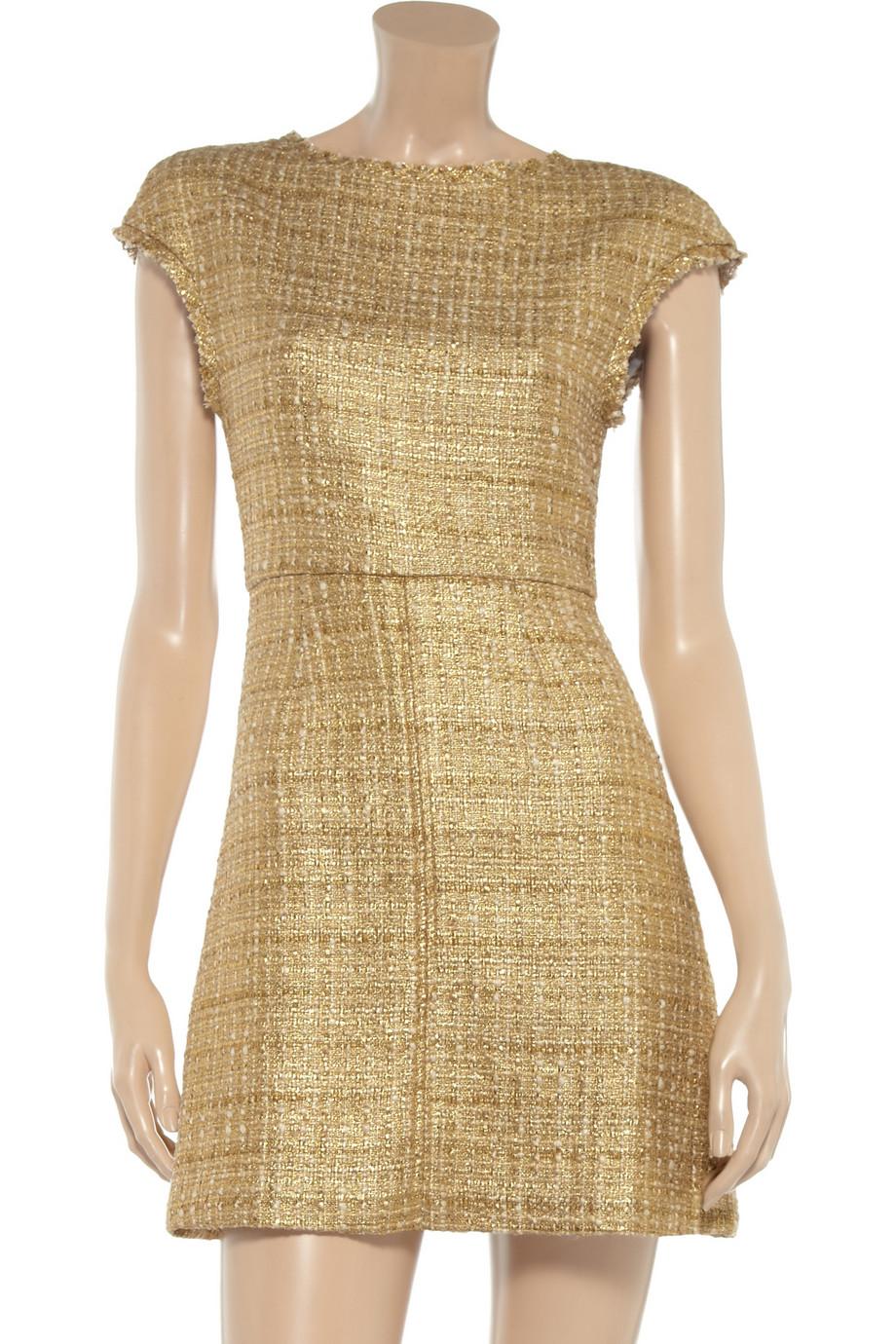 Lyst - Alice + Olivia Elsie Tweed Dress in Metallic 868082208