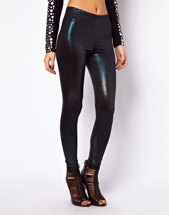 ASOS Collection Leggings in Foil Ombre Effect - Lyst