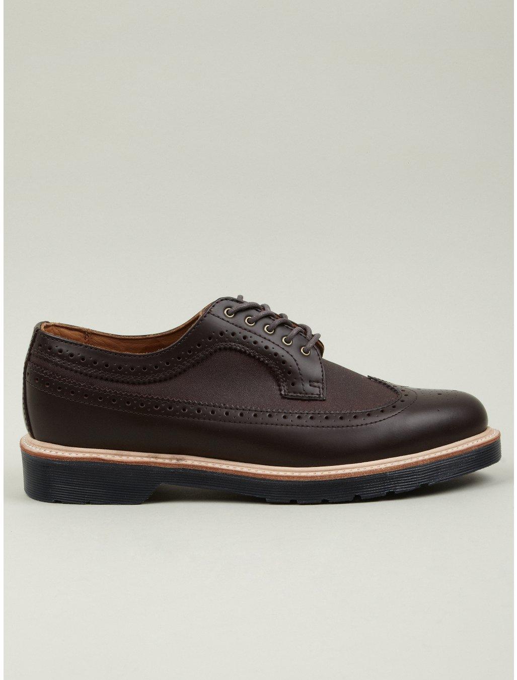 dr martens x millerain mens alfred brogue shoes