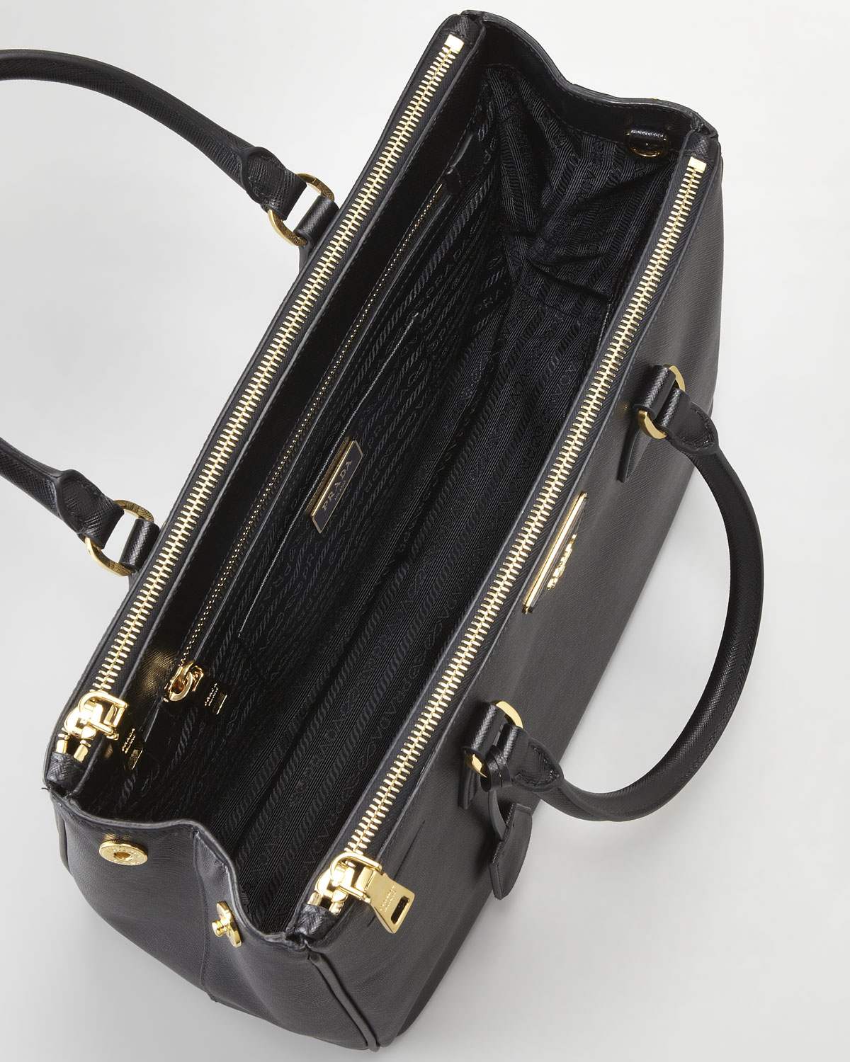 c744bc23a2d0 ... coupon code for lyst prada saffiano small executive tote in black 47d8b  58d2d