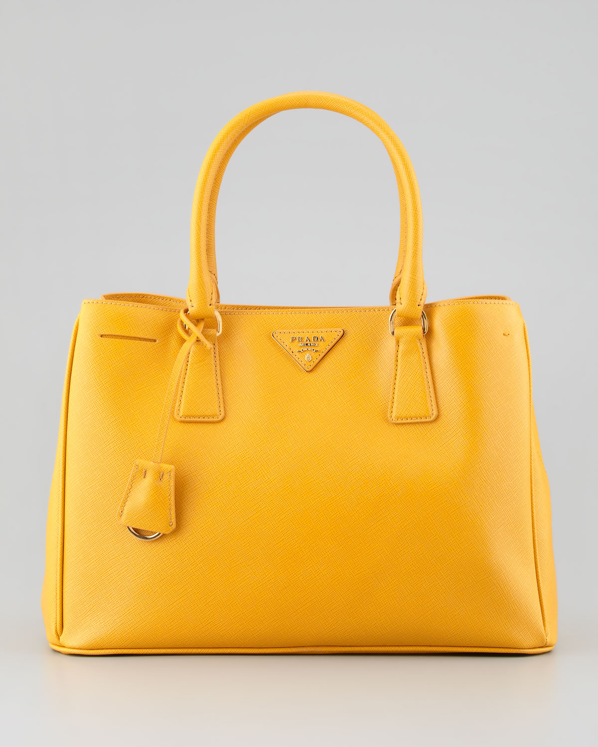c2daaa98375384 ... where can i buy lyst prada saffiano lady tote bag bright yellow in  yellow d6146 01235