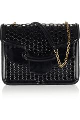 Alexander McQueen Heroine Honeycomb Patentleather Shoulder Bag