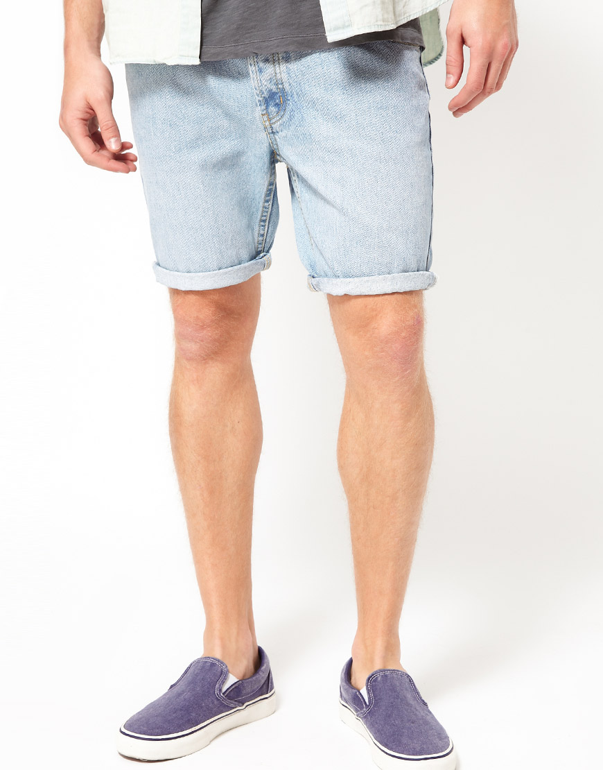 Cheap monday Denim Shorts in Blue for Men | Lyst