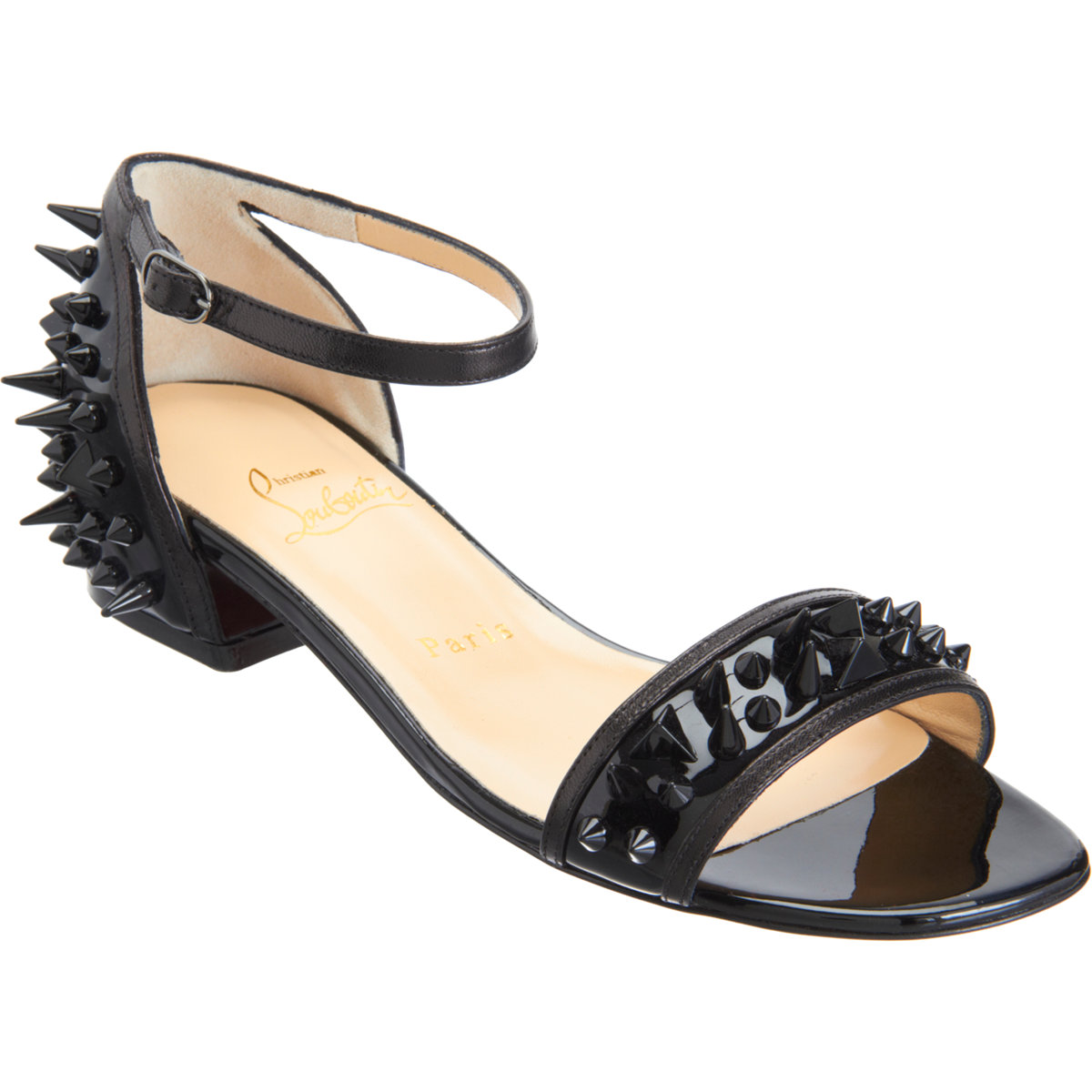 boutin shoes - christian louboutin Druide Spike sandals | The Little Arts Academy