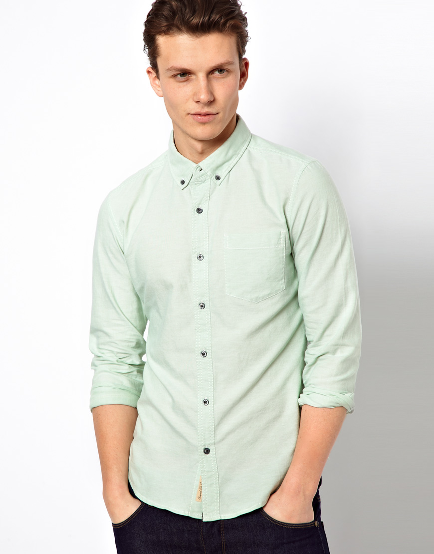 Esprit Oxford Shirt with Long Sleeves in Green for Men | Lyst