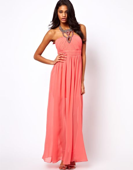 Little mistress dresses lyst for Jewelry to wear with coral dress