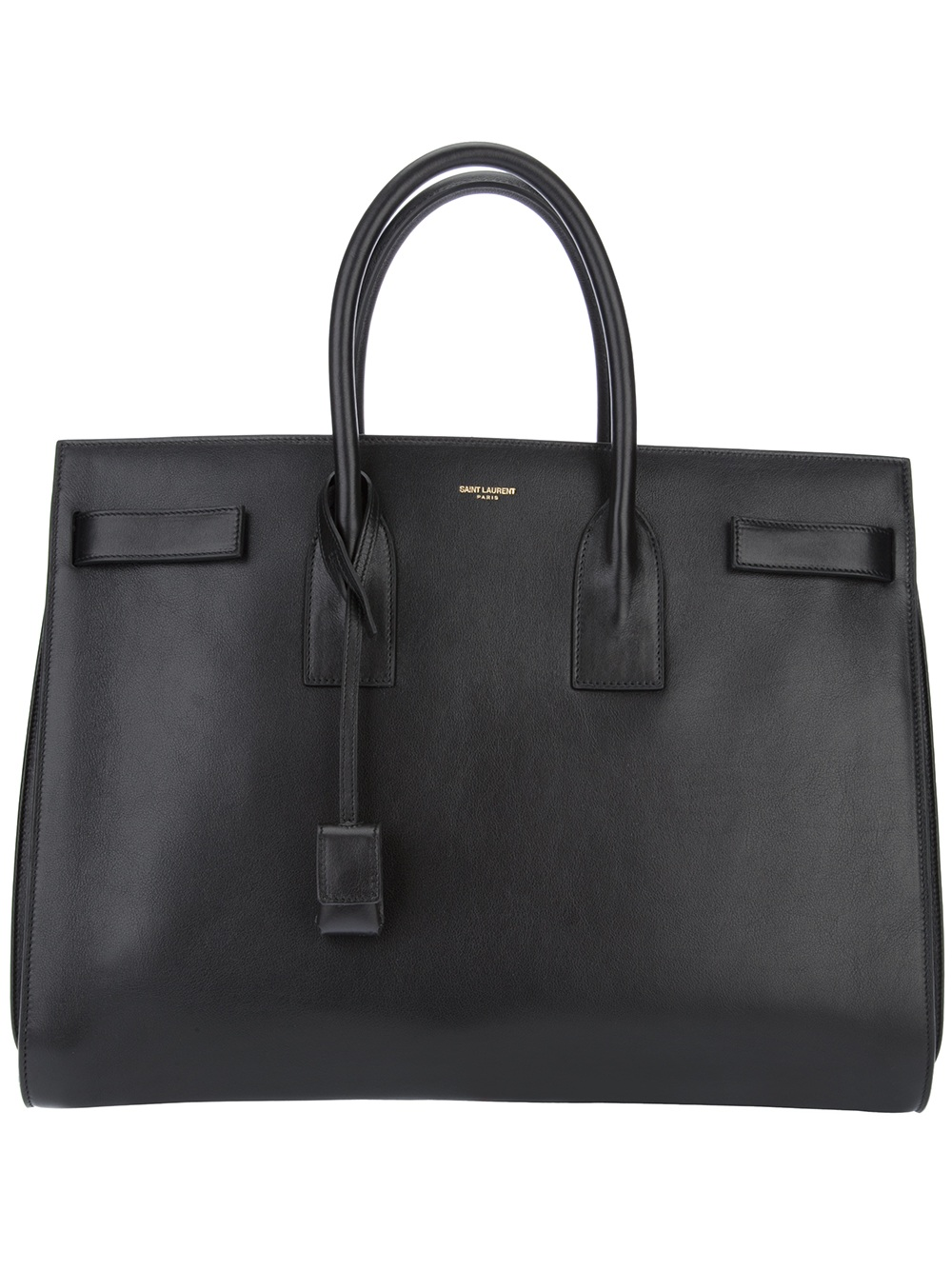 saint laurent sac du jour tote in black lyst. Black Bedroom Furniture Sets. Home Design Ideas