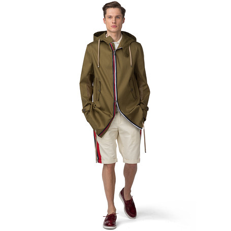 tommy hilfiger runway parka in khaki for men dark olive lyst. Black Bedroom Furniture Sets. Home Design Ideas