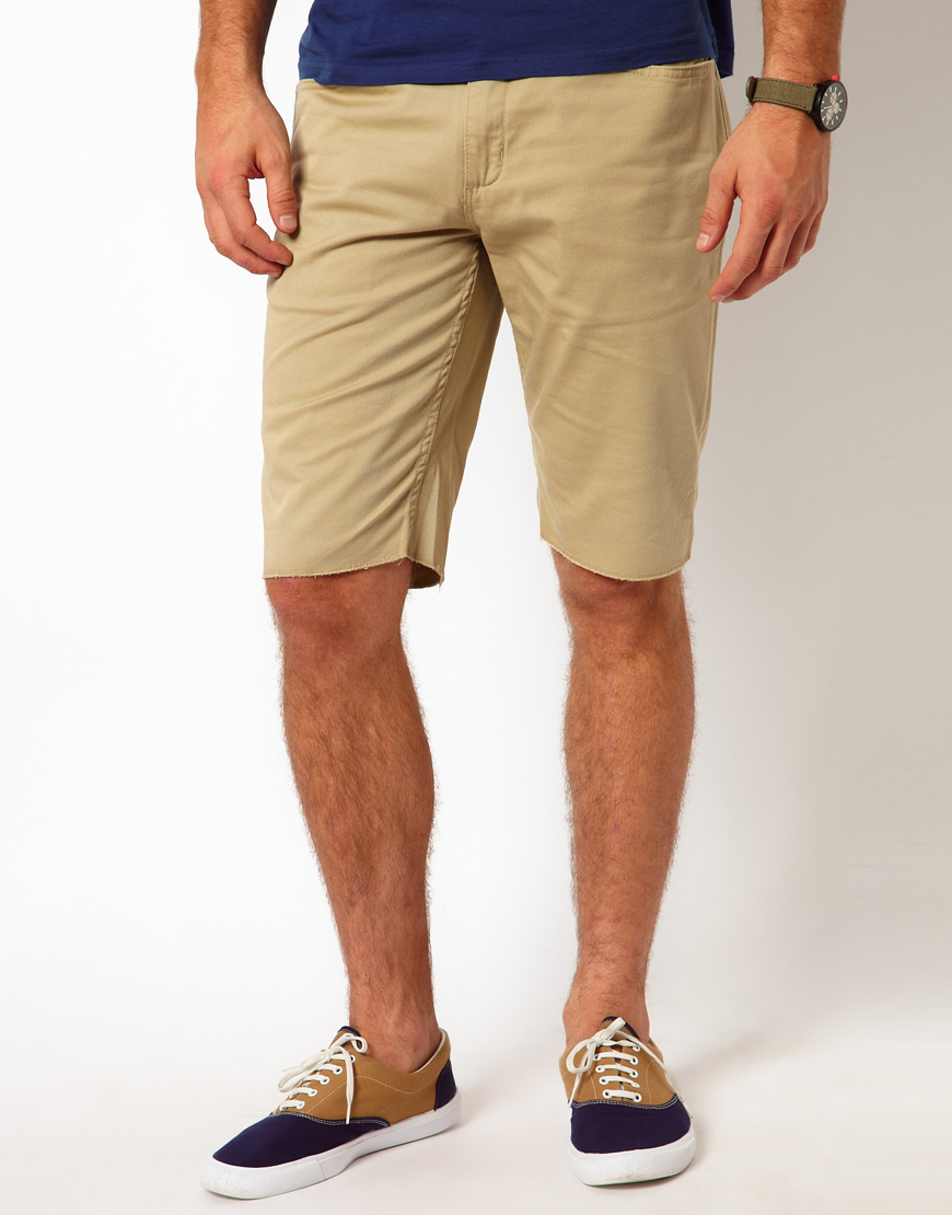 26f60ffad0a900 Lyst - Vans Chino Shorts Covina Washed Twill in Natural for Men