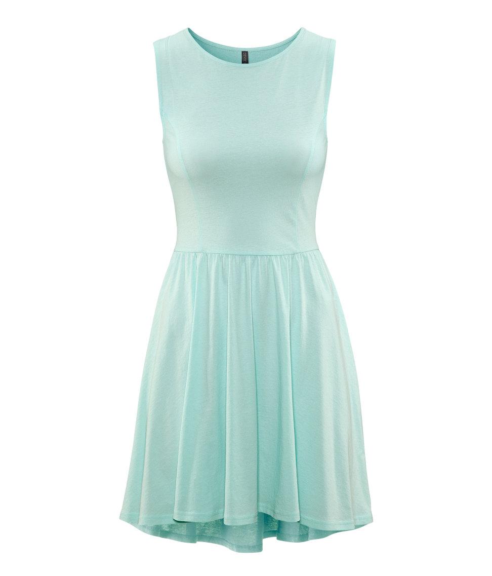 Lyst - H&M Dress in Green