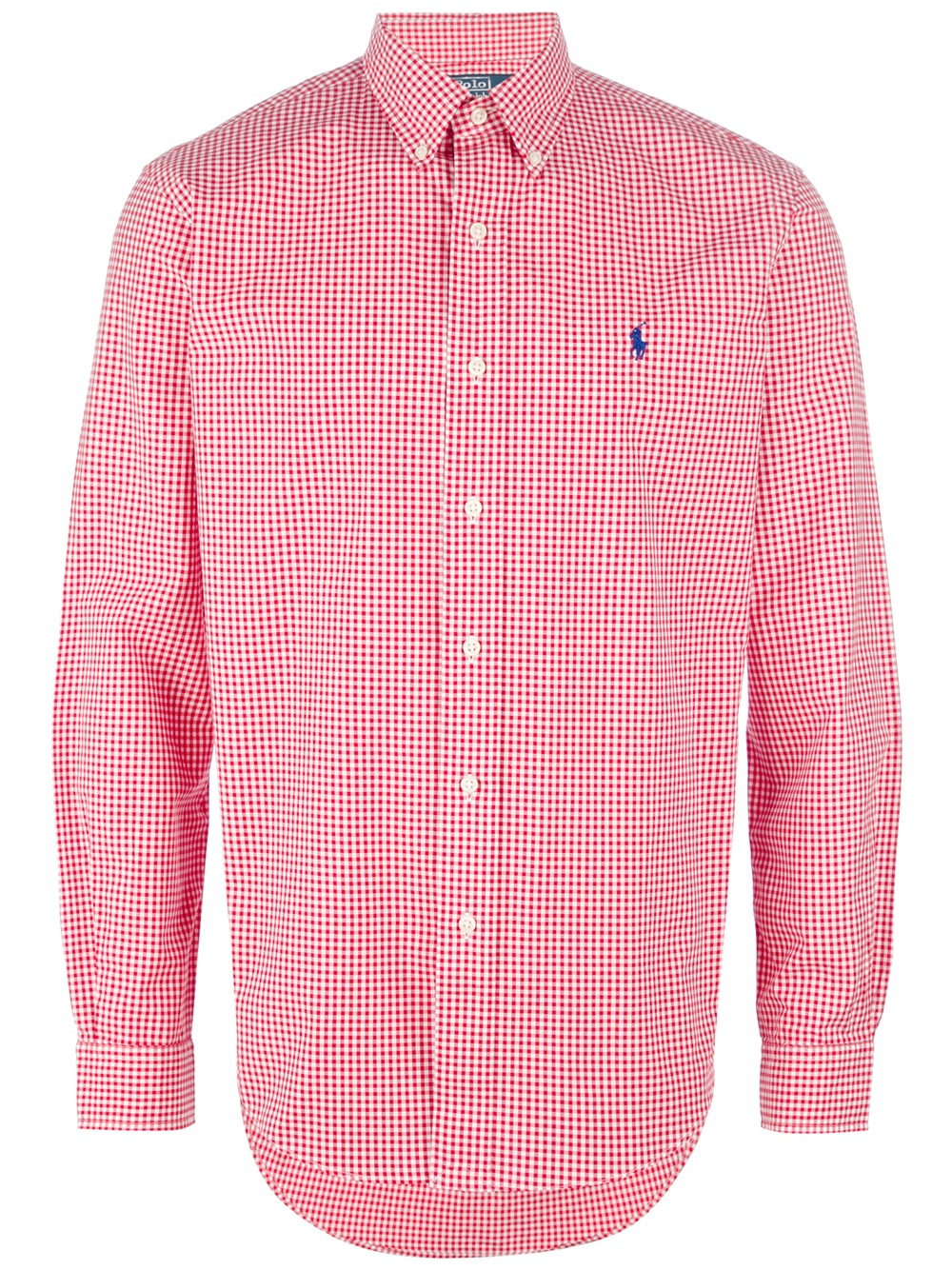 Polo Ralph Lauren Gingham Button Down Shirt In Red For Men