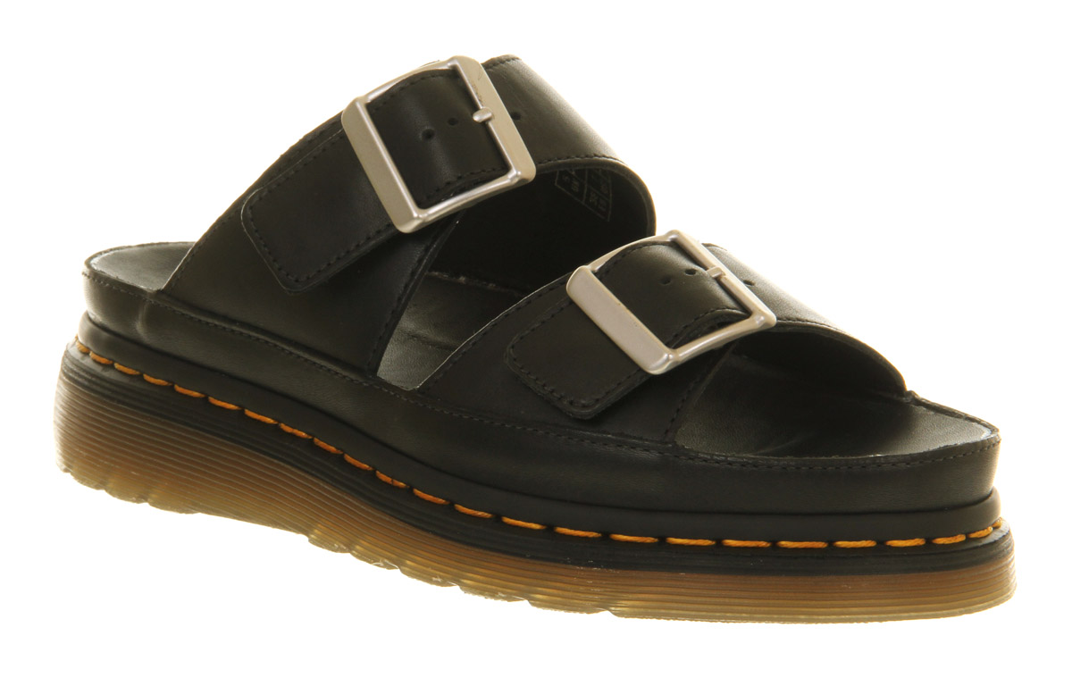 Dr Martens Shore Cyrus Double Strap Sandal Black Leather
