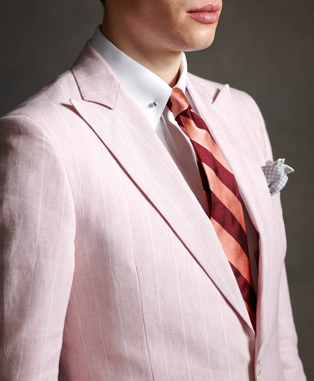 Brooks brothers The Great Gatsby Collection Pink Striped Linen ...