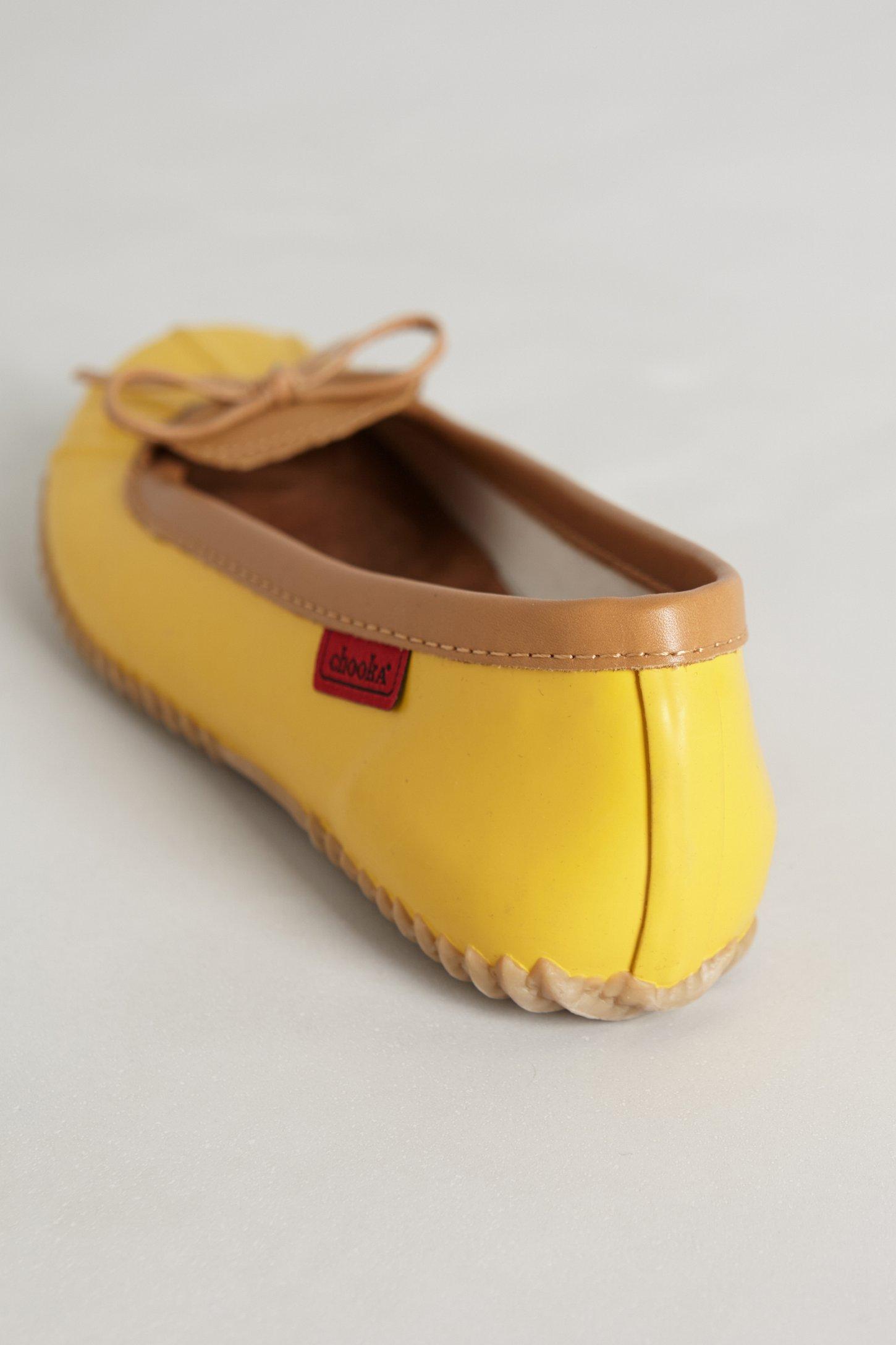 Chooka Duckie Rain Flats In Yellow Lyst