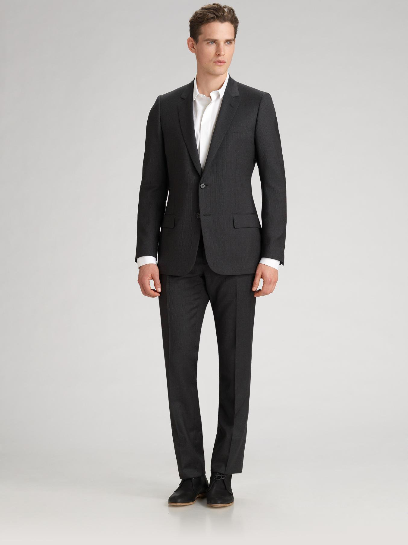 Dior Homme Twopiece Suit In Gray For Men Lyst