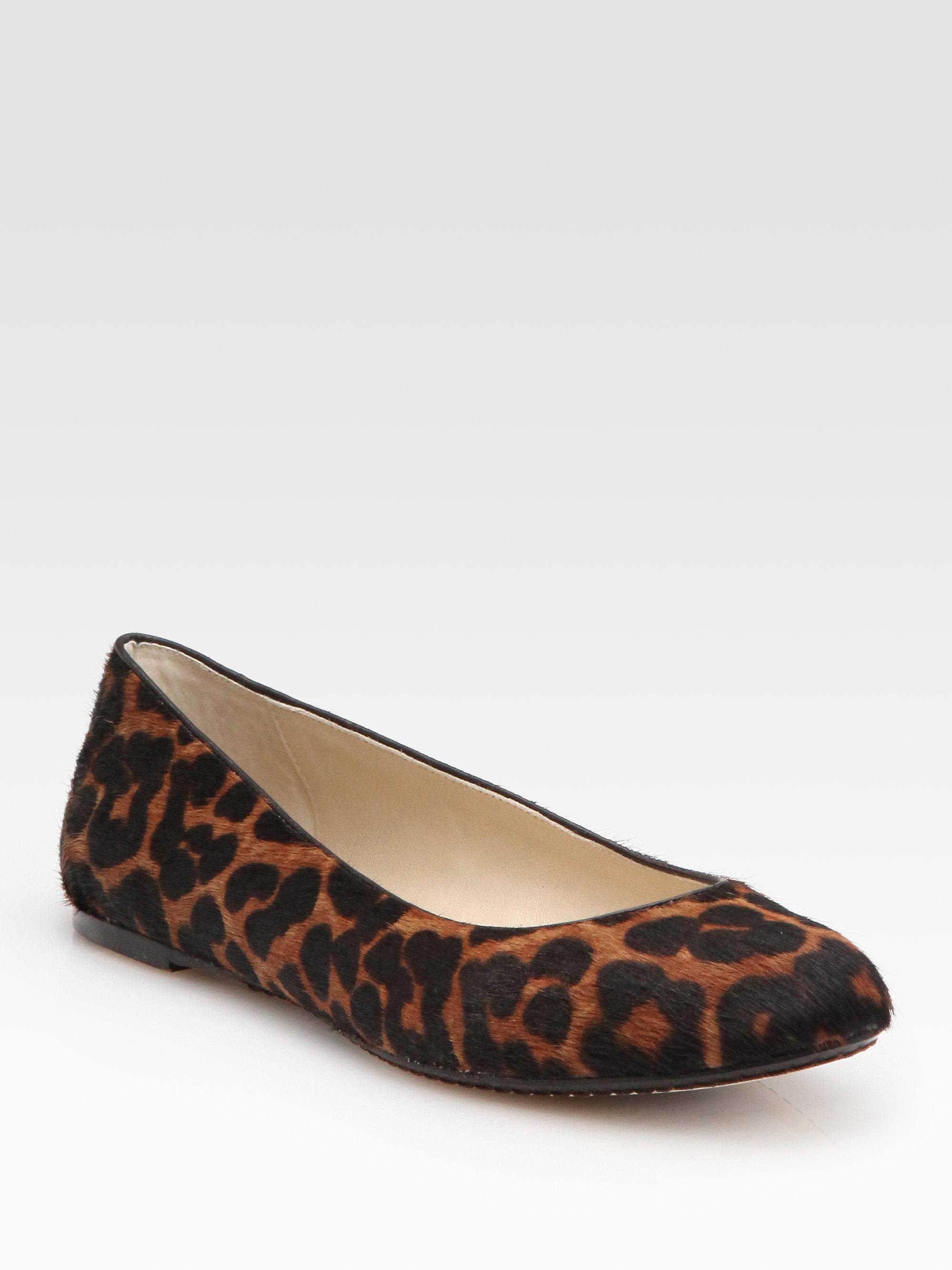 Ellen Tracy Leopard Flat Shoes