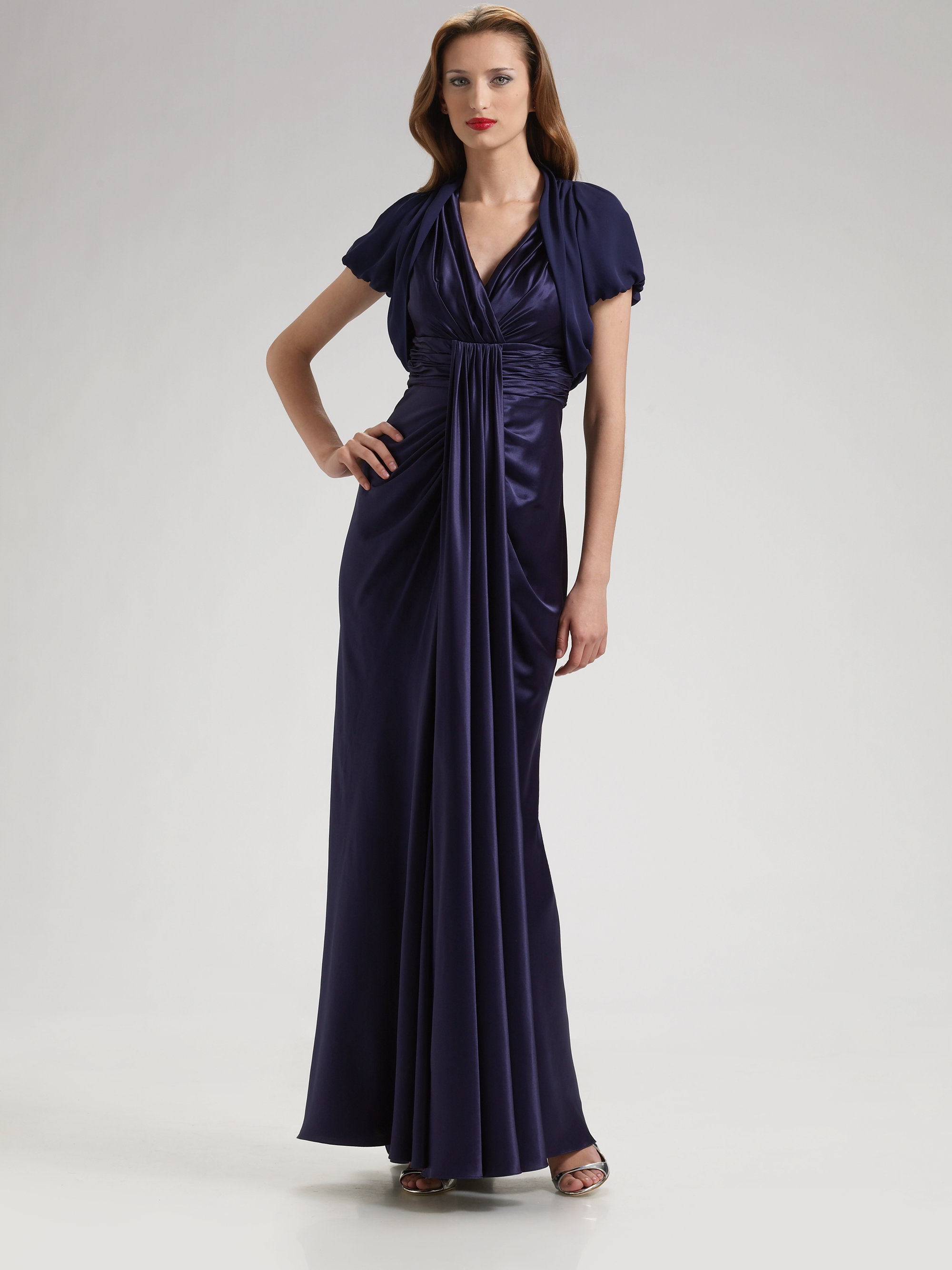 2cb6d87785e Old Fashioned Silk Charmeuse Gown Ensign - Top Wedding Gowns ...