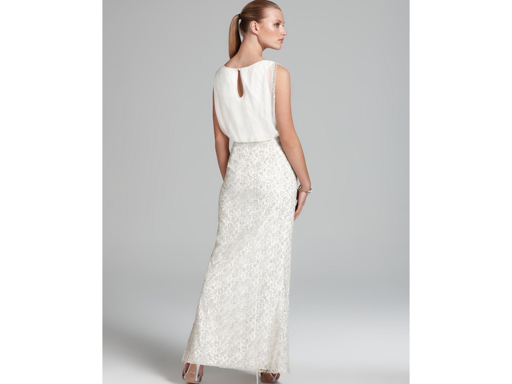 Unique Aidan Mattox Sleeveless Beaded Blouson Gown Ensign - Wedding ...
