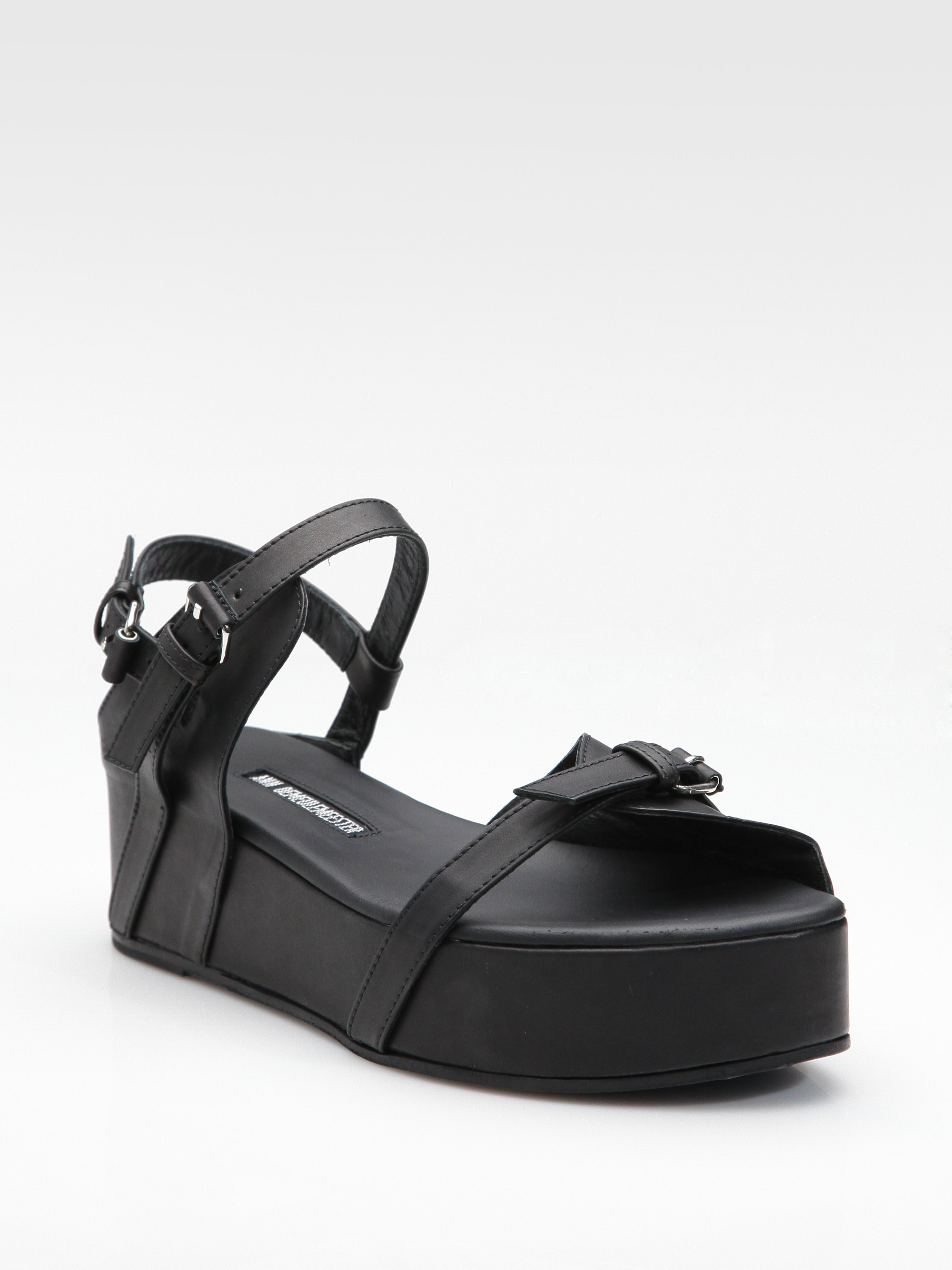 Ann Black Demeulemeester Sandals Leather Bfy67g 2h9iwed Lyst In Platform n0PXkw8O