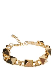 ASOS Collection Asos Stud Chain Link Bracelet - Lyst