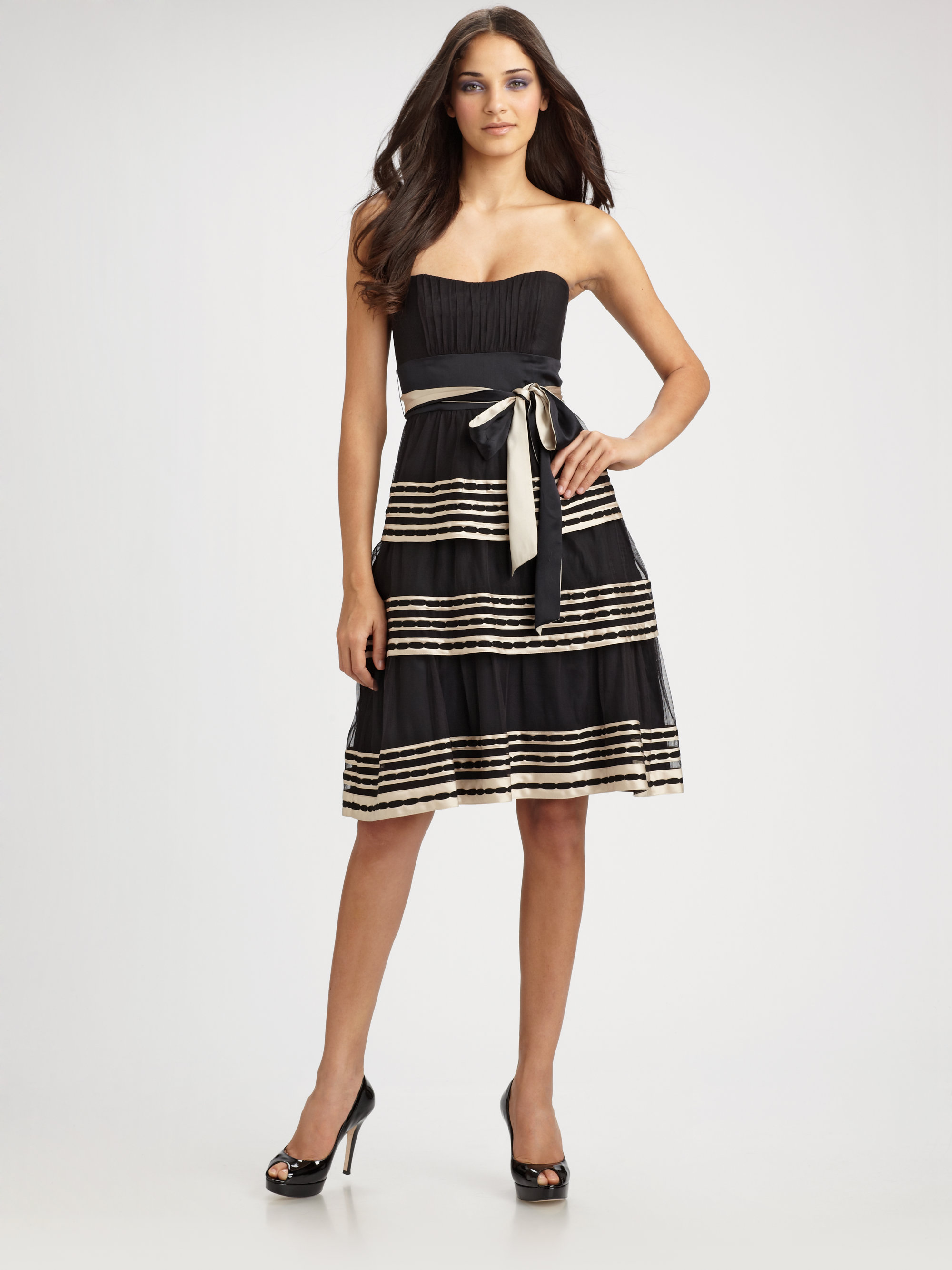 Strapless Tiered Dress