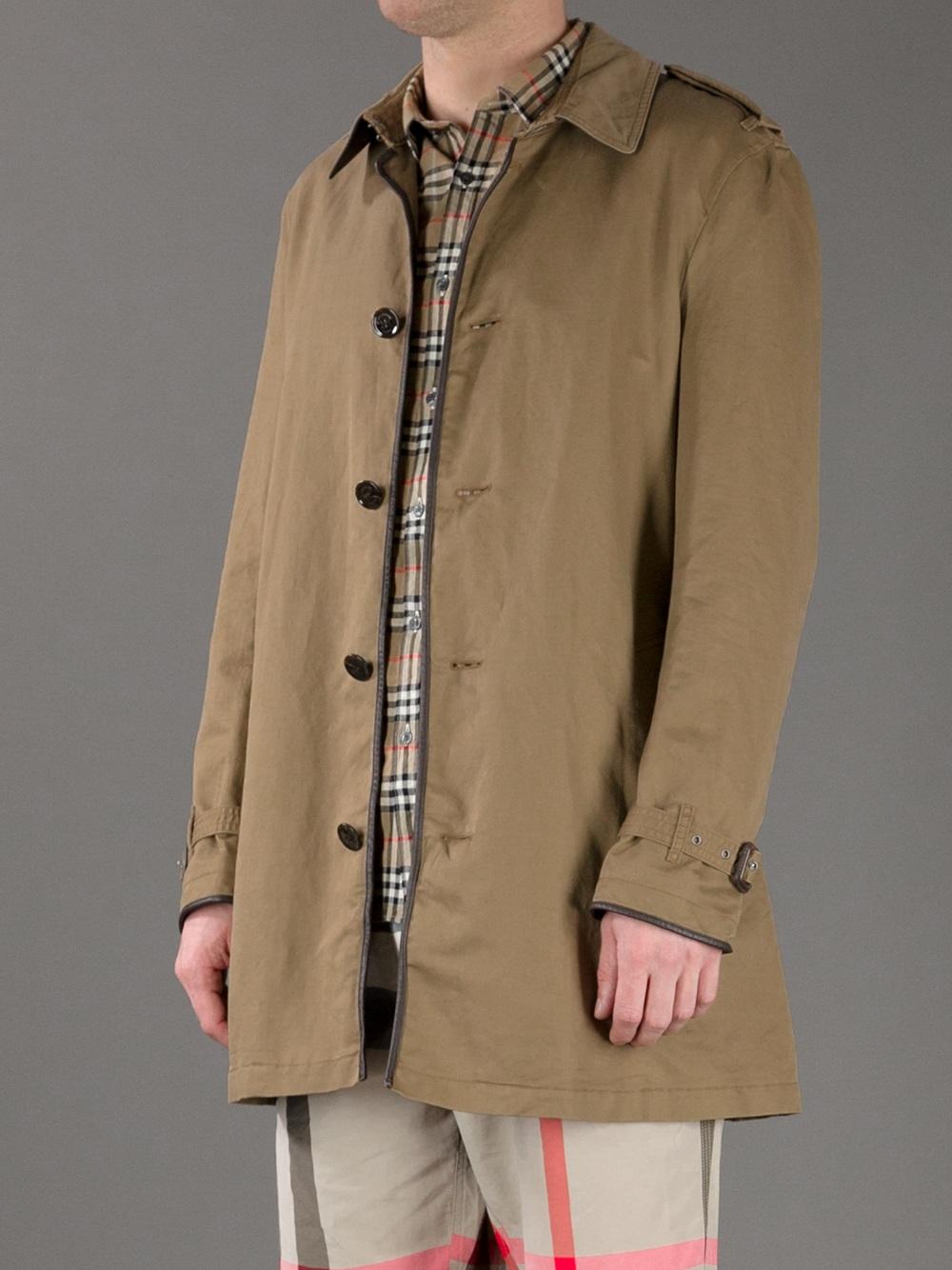 lyst burberry brit brixton trench coat in natural for men. Black Bedroom Furniture Sets. Home Design Ideas
