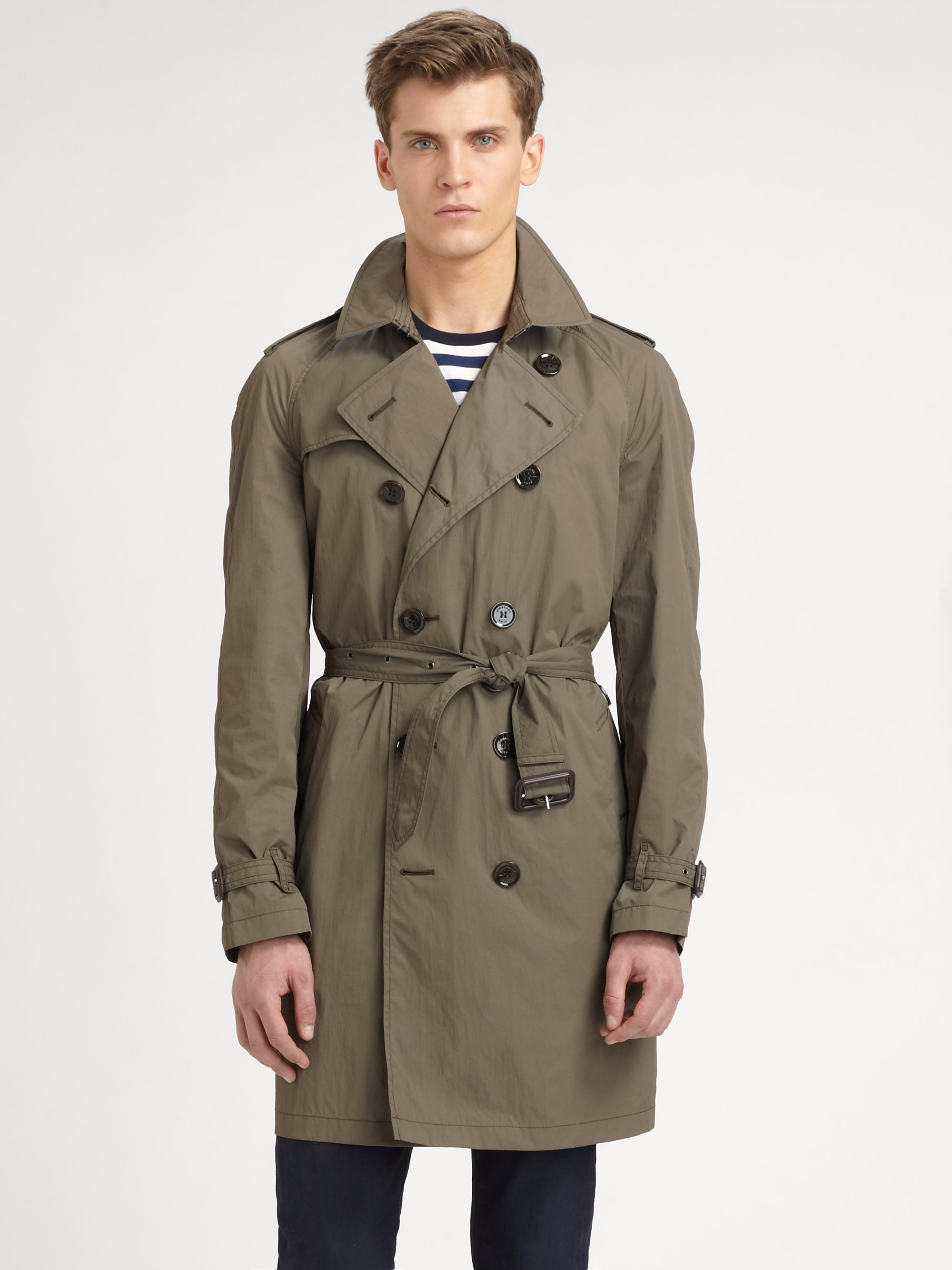 e2bb834c39ed Burberry Brit Double Breasted Trench Coat