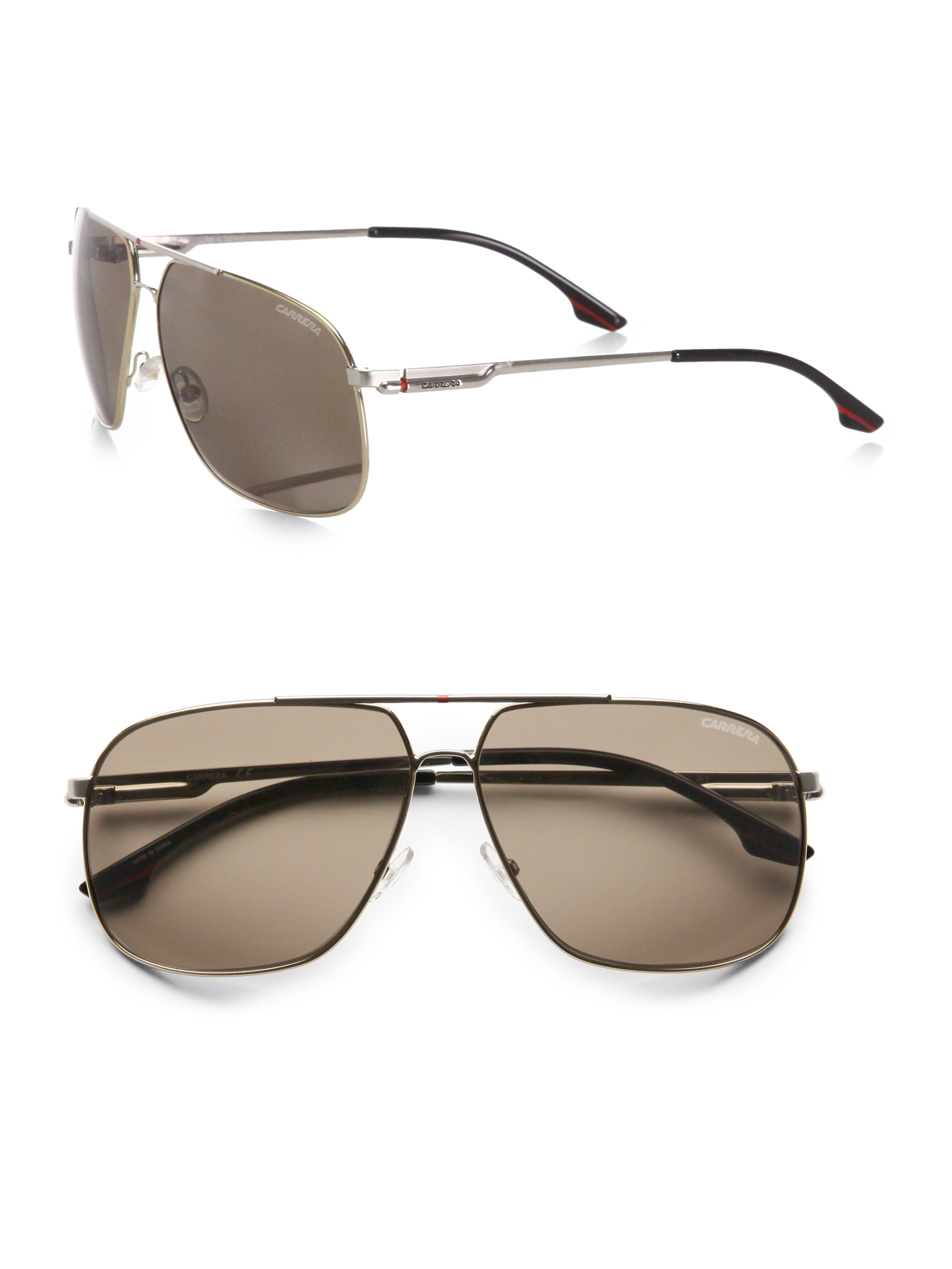 27f03905d6dbd Lyst - Carrera Doublebridge Navigator Sunglasses in Brown for Men