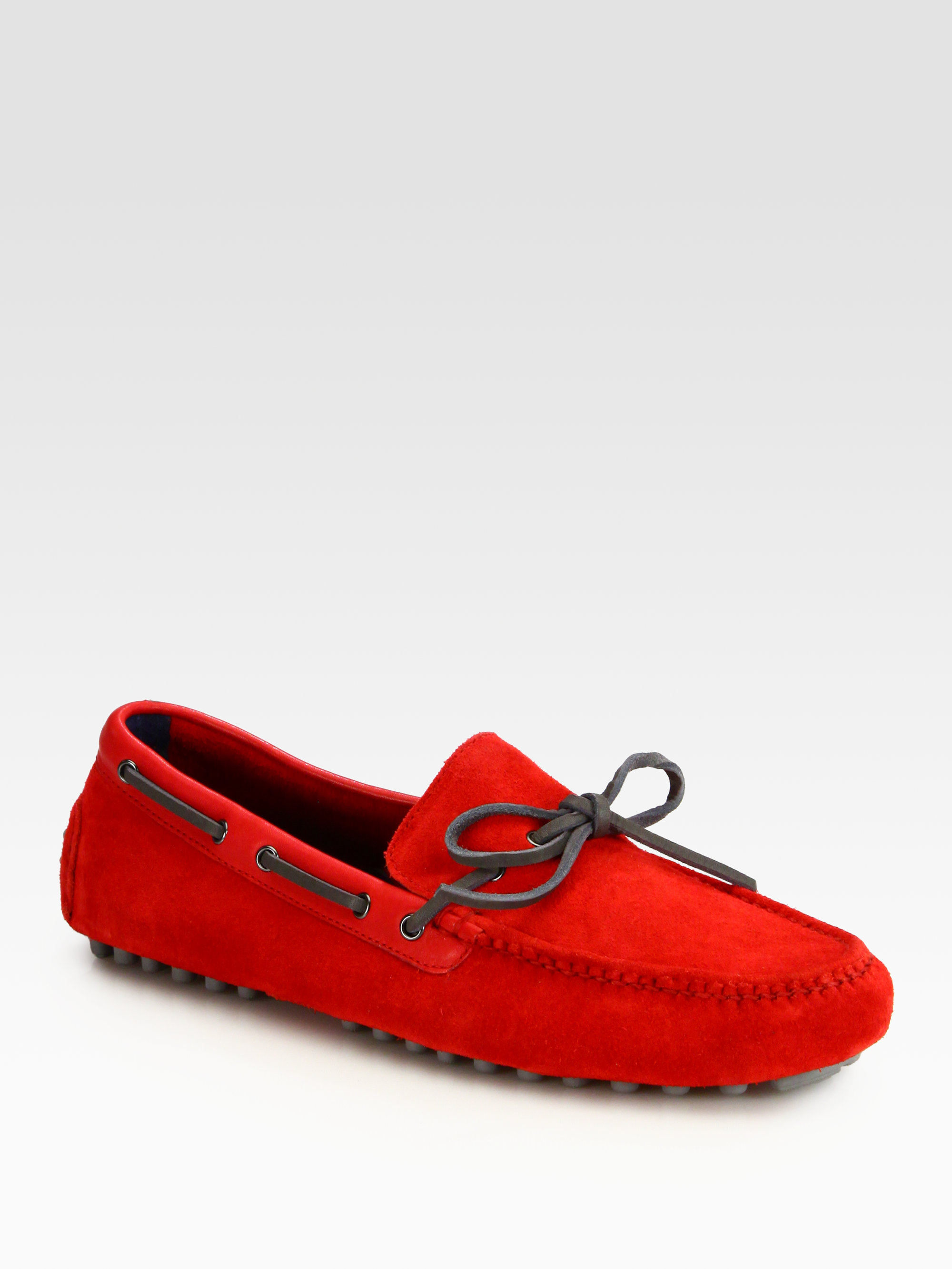 144b7b5ef36 Lyst - Cole Haan Air Grant Driving Moccasins in Red for Men