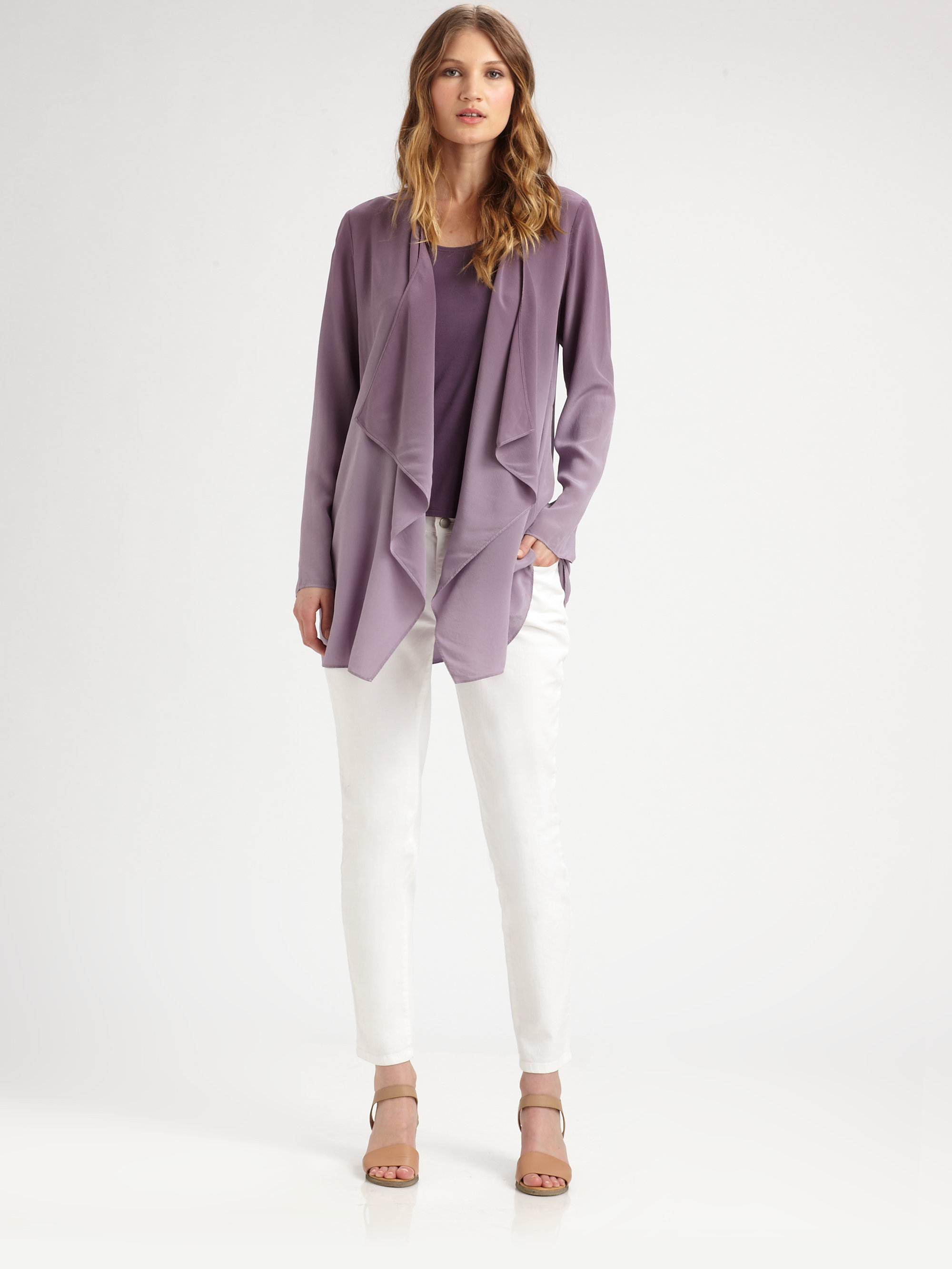Lyst Eileen Fisher Silk Ombre Jacket