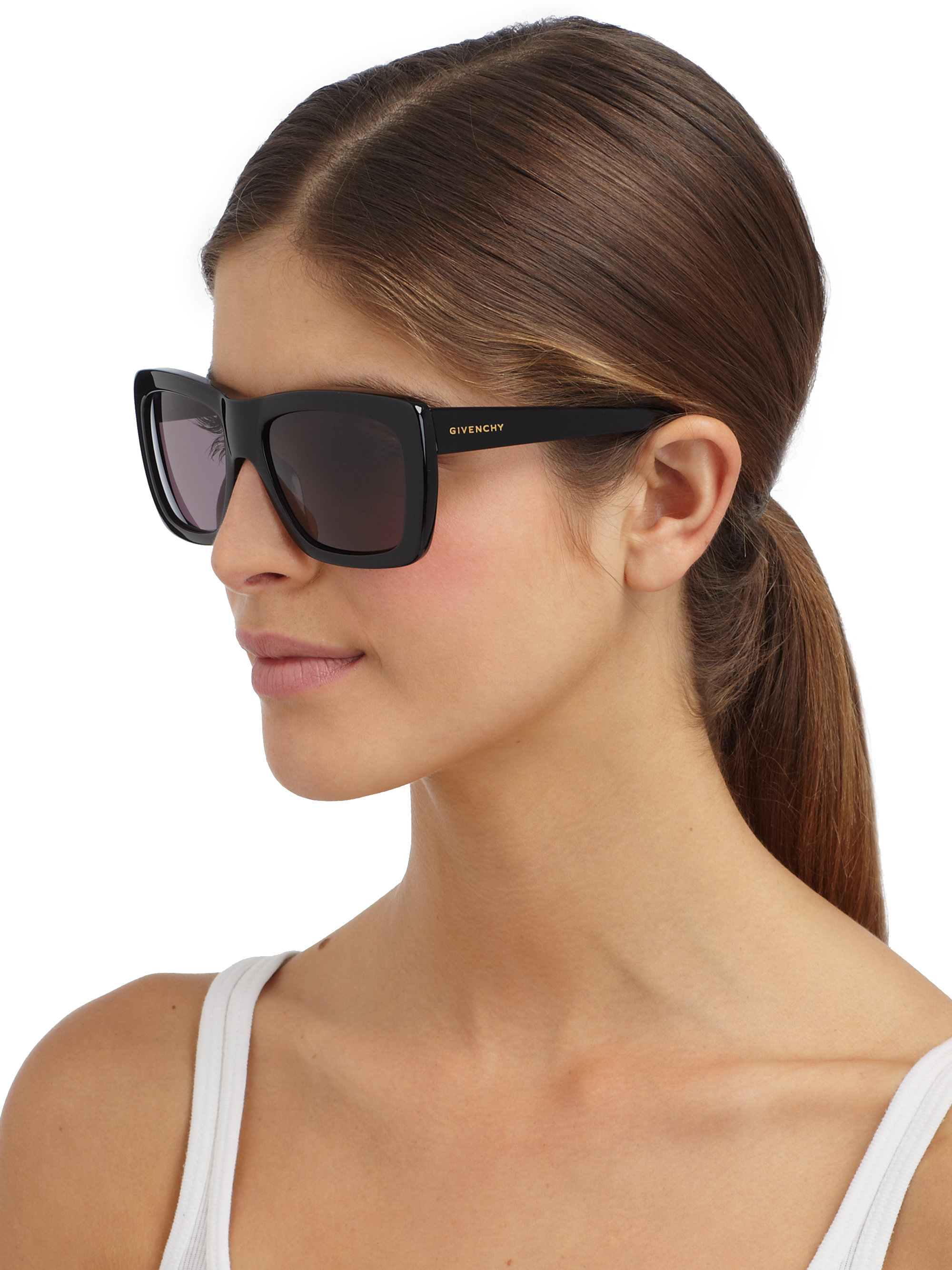 Lyst Givenchy Oversized Wayfarer Sunglasses In Black