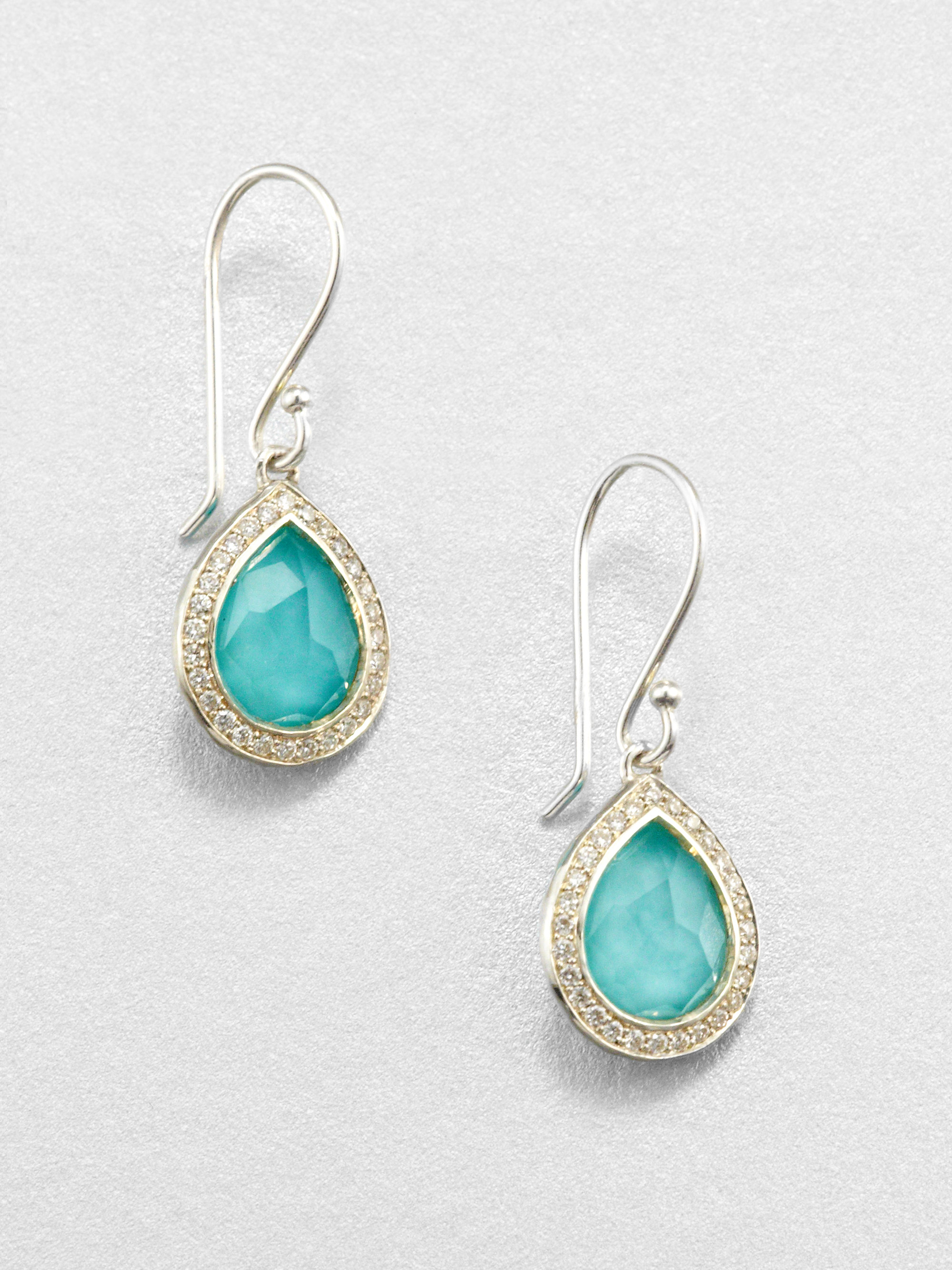 Ippolita Stella Turquoise Clear Quartz Diamond